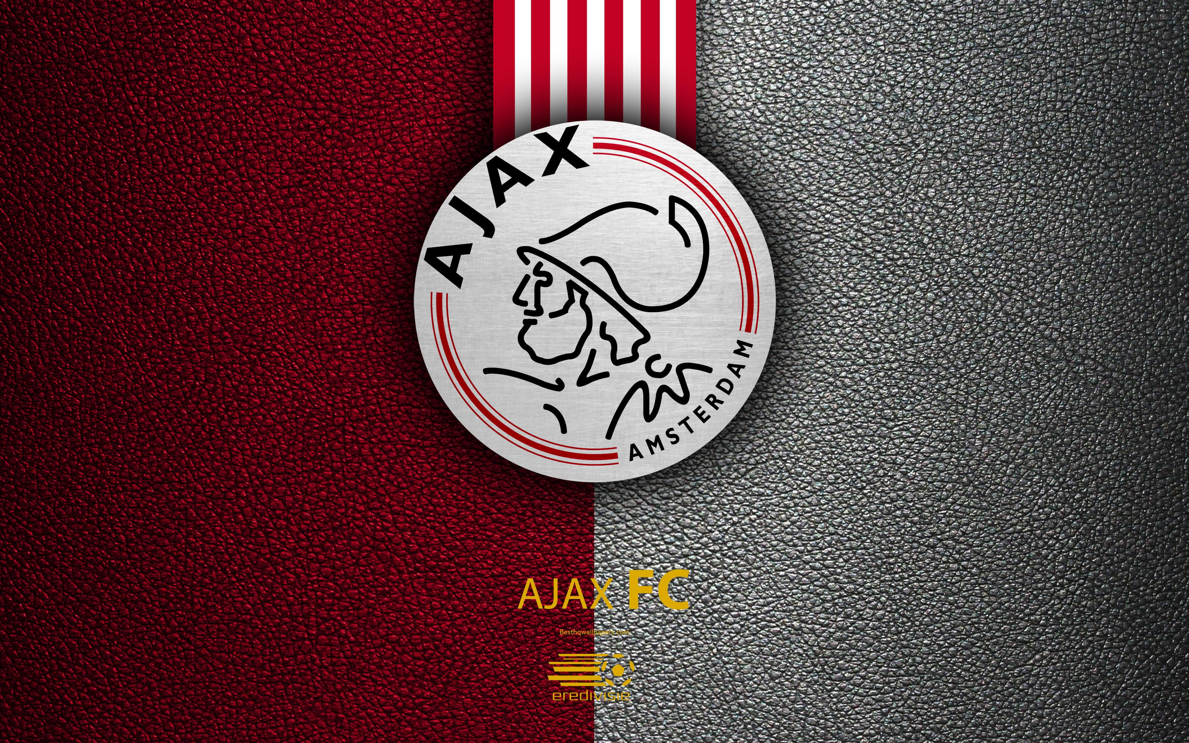 Download wallpapers Ajax FC, 4K, Dutch football club, leather