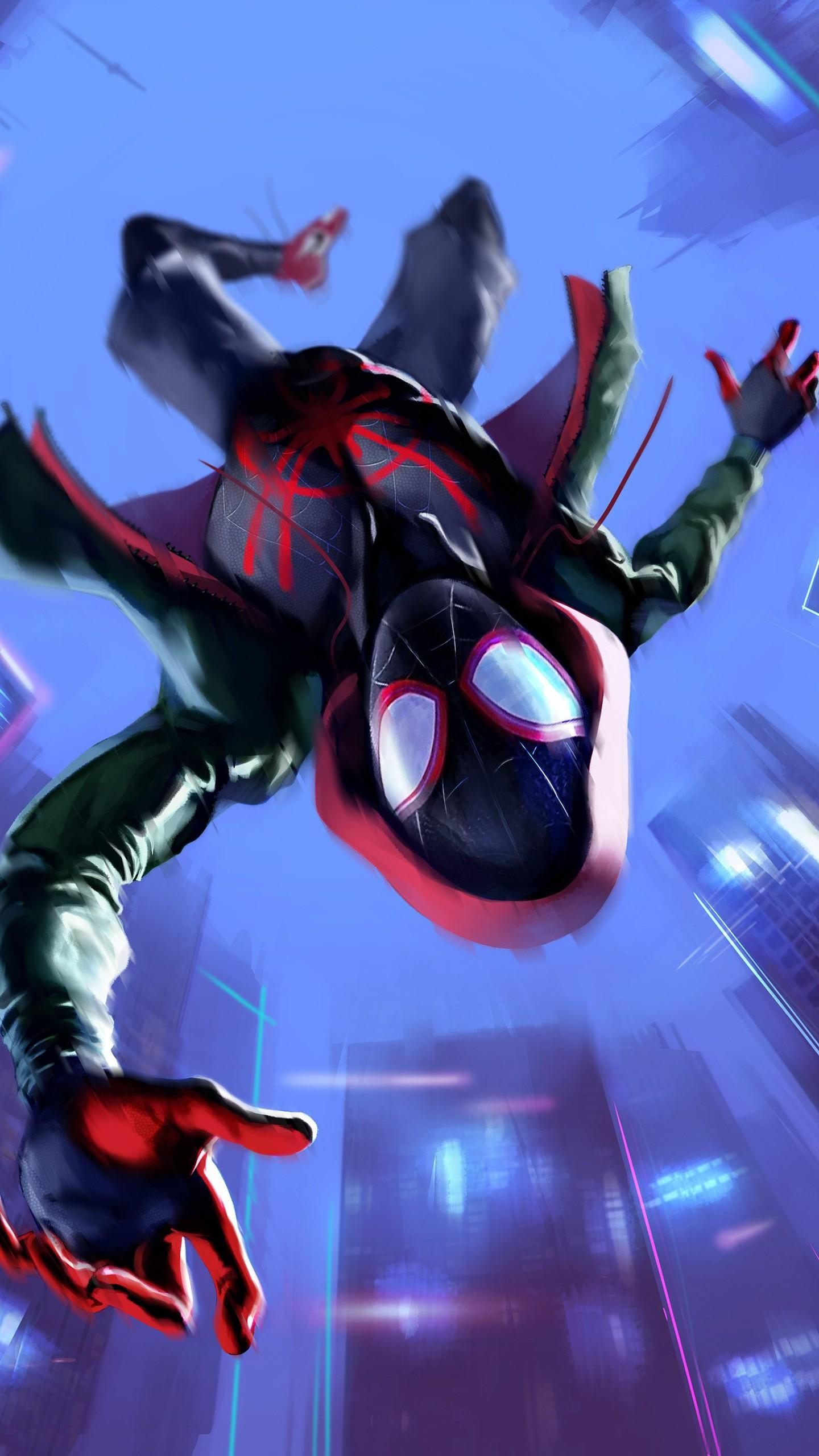 Miles Morales in Spider-Man Into the Spider-Verse Wallpapers | HD .
