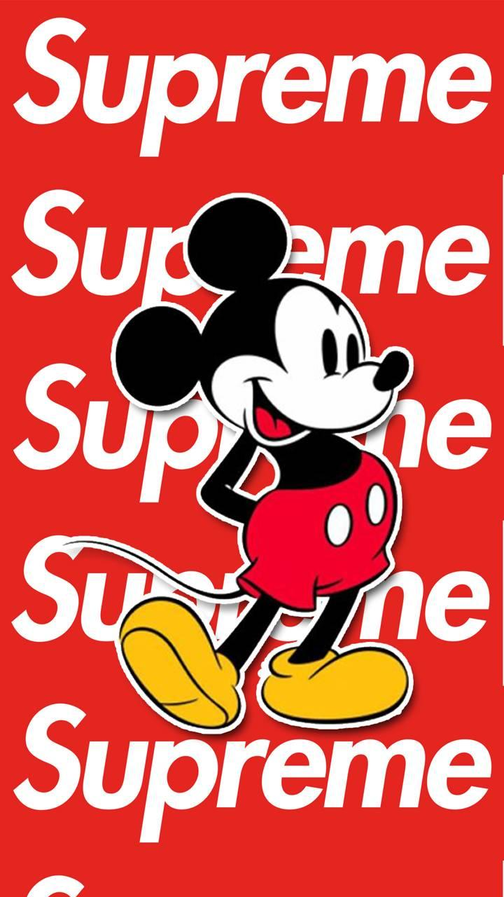 Supreme Mickey Mouse Wallpapers Wallpaper Cave