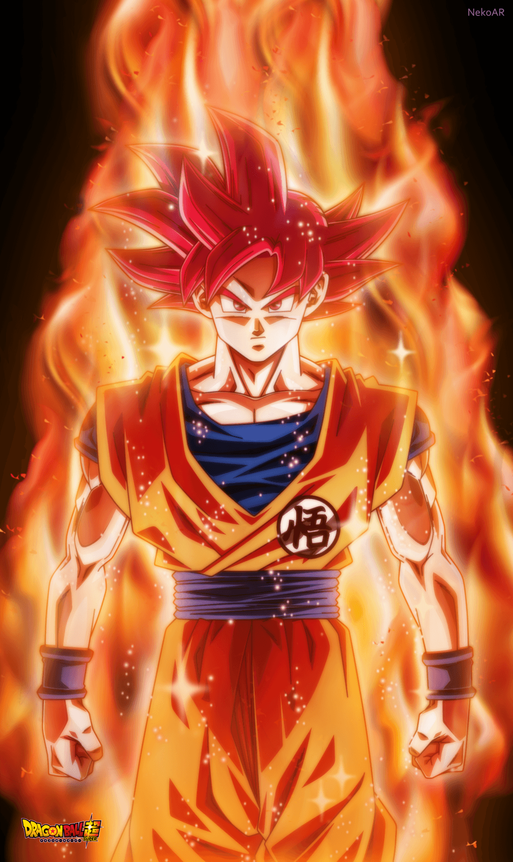 Goku Super Saiyan God Iphone Wallpapers Wallpaper Cave
