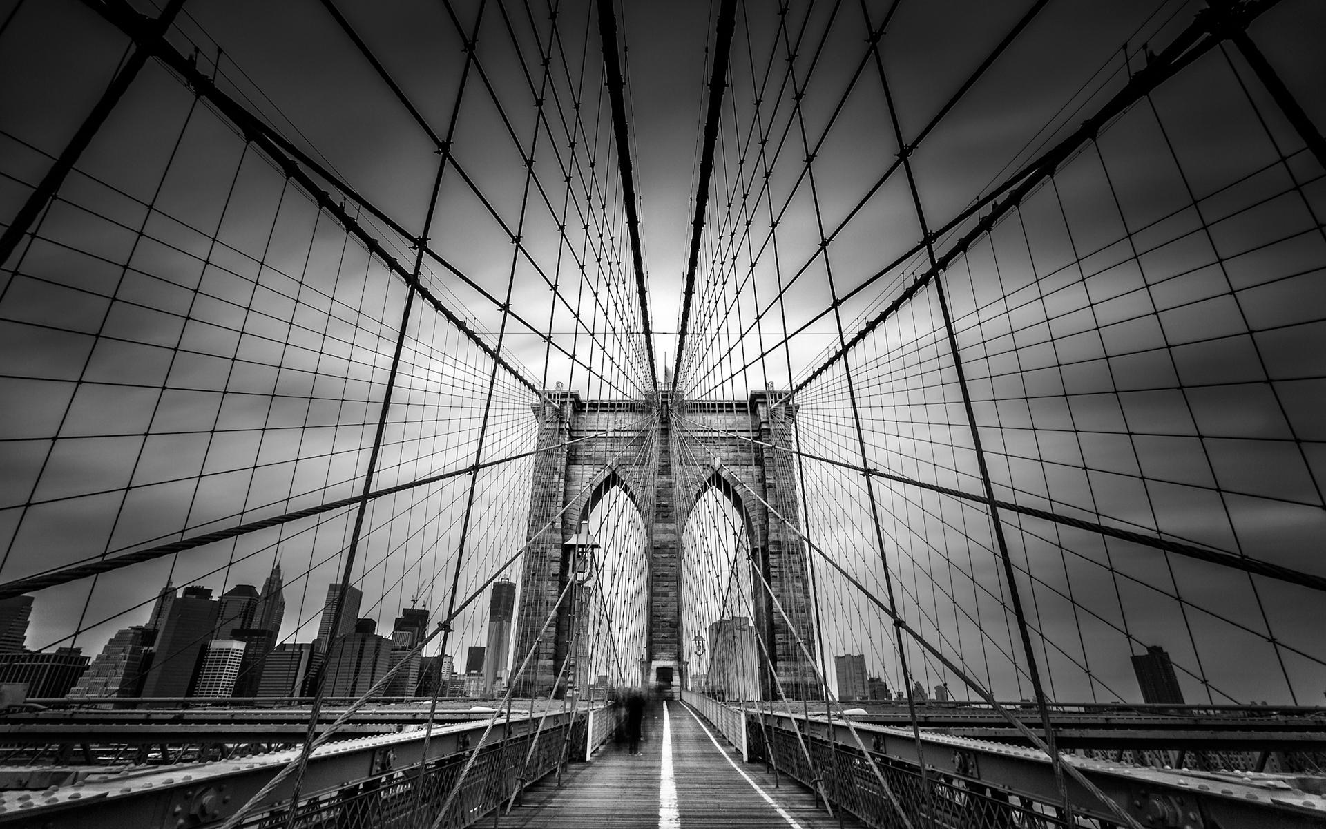 черно-белые картинки фото мост может быть только