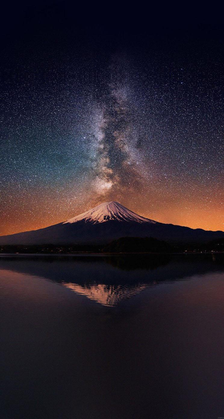 Milky Way On Mount Fuji - The iPhone Wallpapers