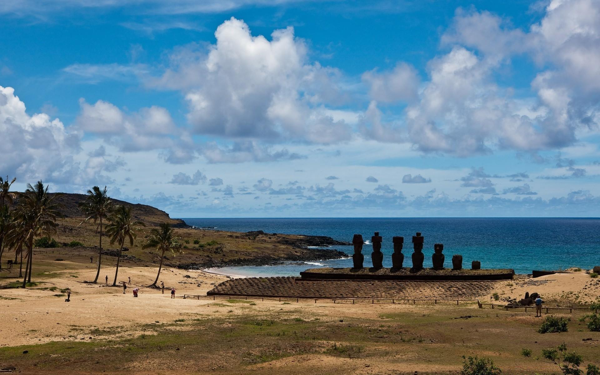 Easter Island Statues. Android wallpapers for free