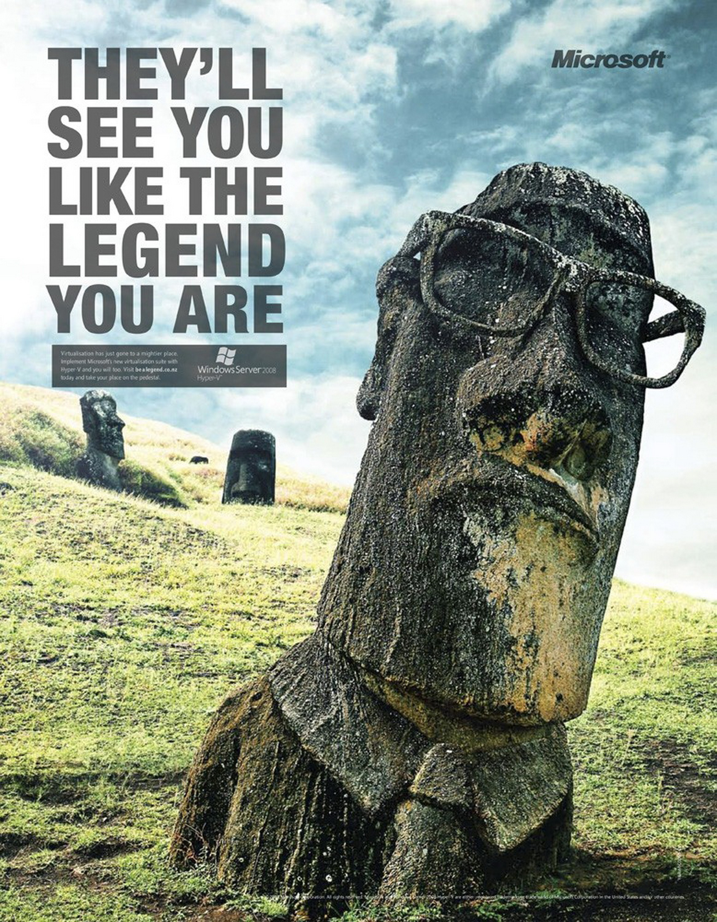 Easter island viral advertisement artwork glasses wallpapers