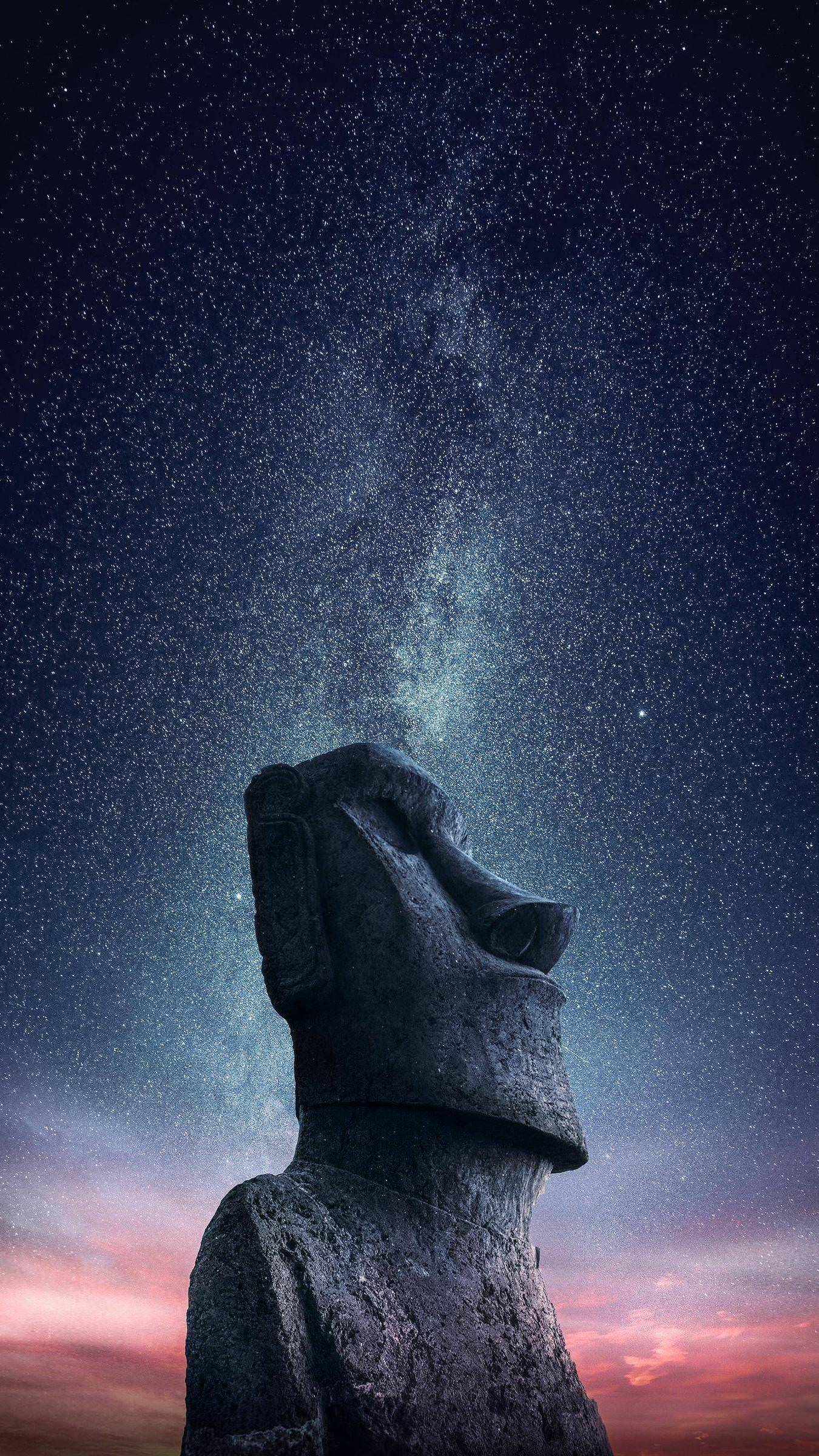 Wallpapers I made of the Easter Island photo