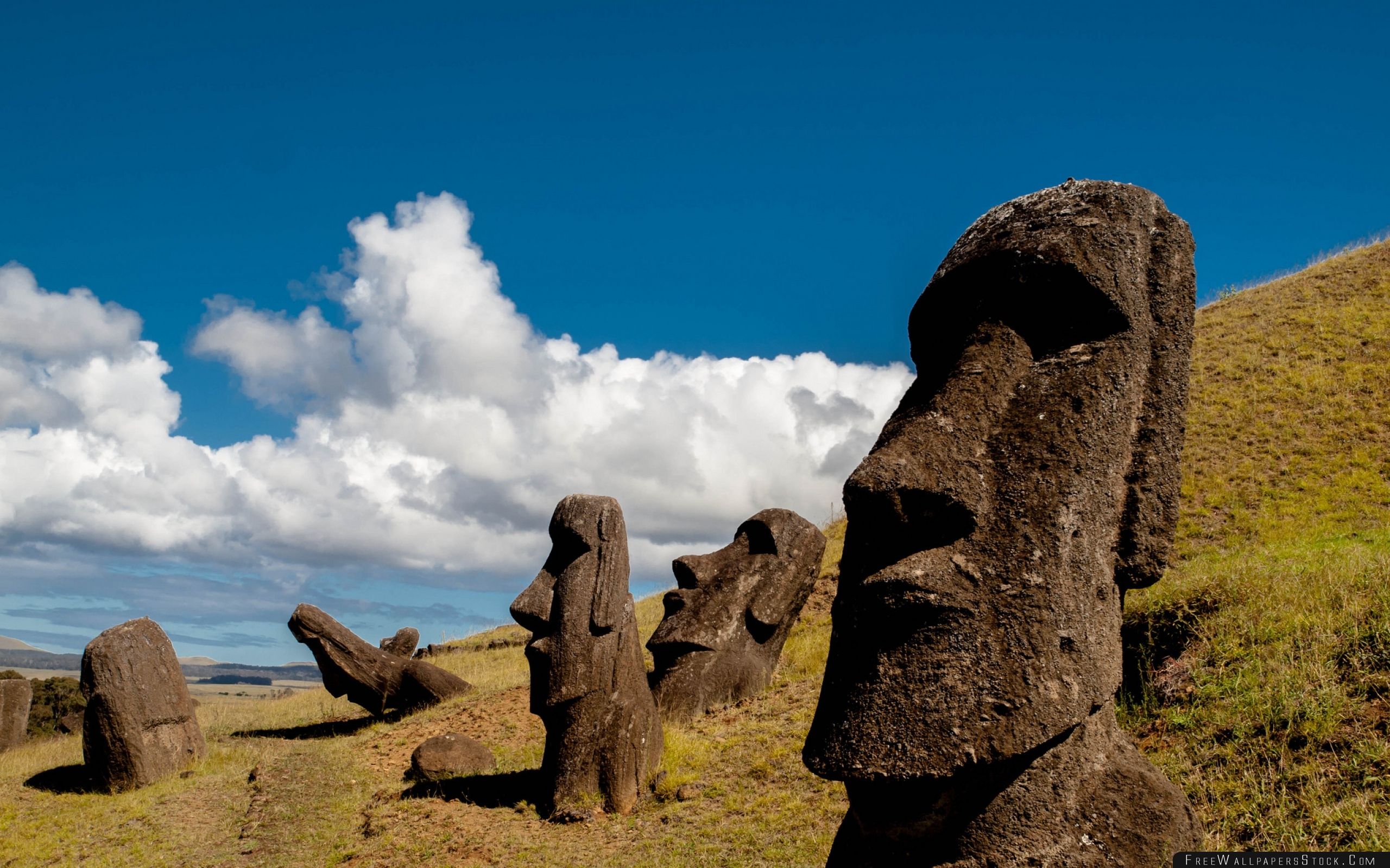 Chile Easter Island Rapa Nui Moai Statue Carved Image Idol Wallpapers