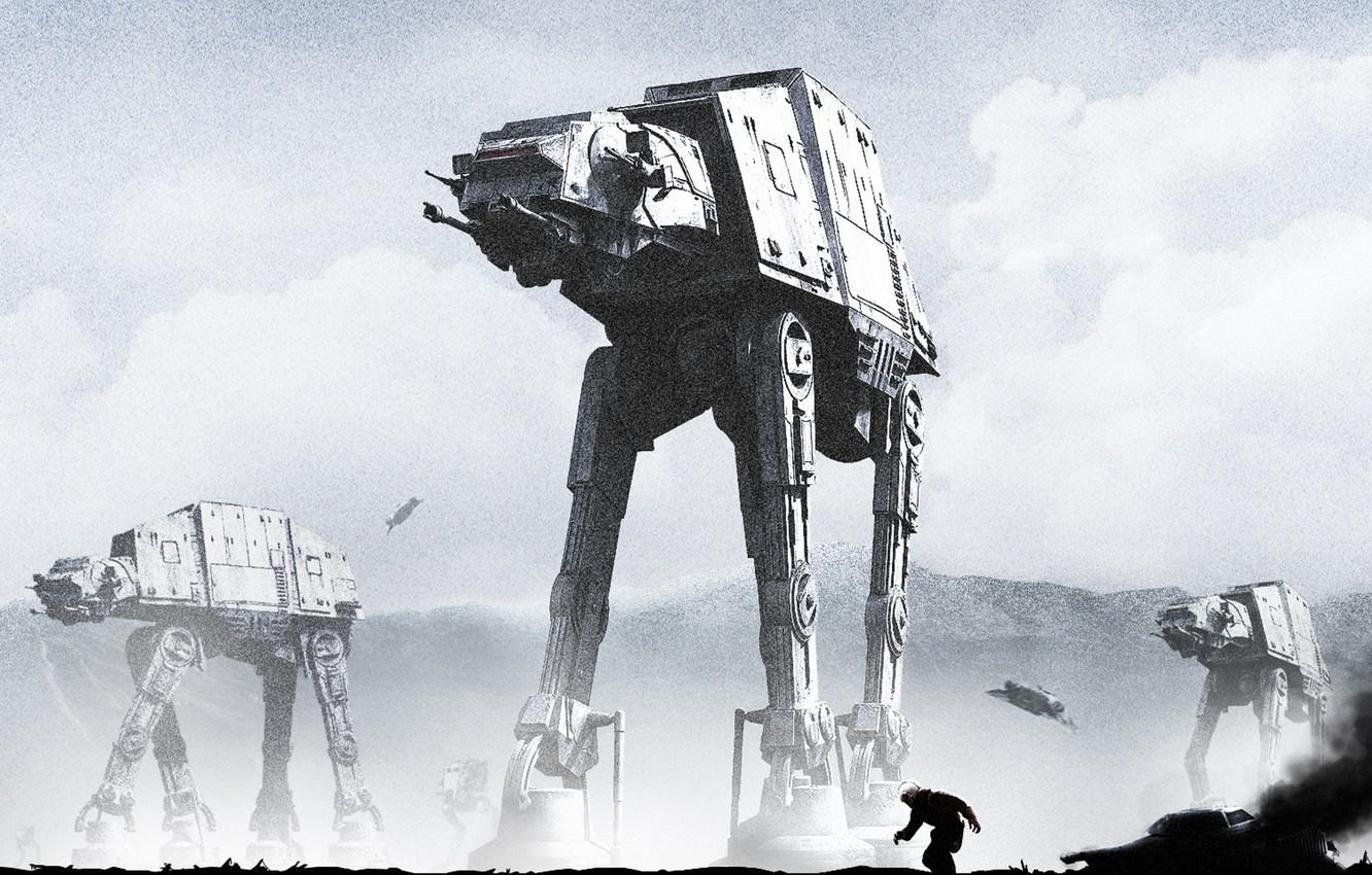 Wallpapers robot, star wars, art, walker, The Empire Strikes Back
