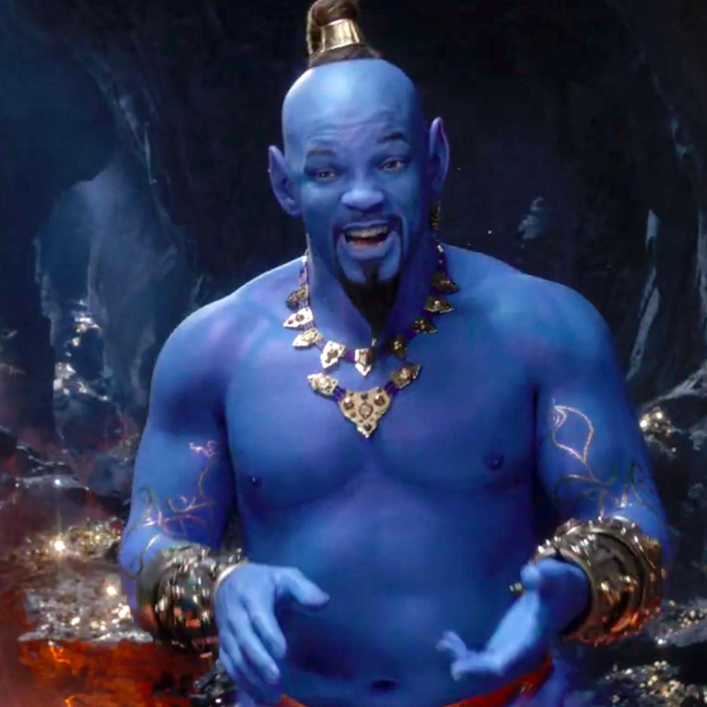 Aladdin's Grammys trailer finally reveals Will Smith's very blue