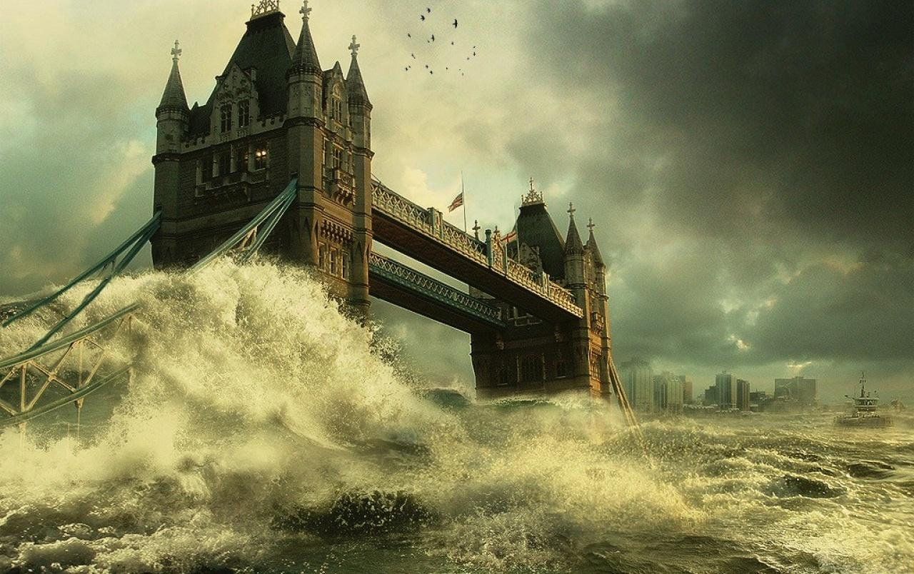 Tower Bridge flood wallpapers | Tower Bridge flood stock photos