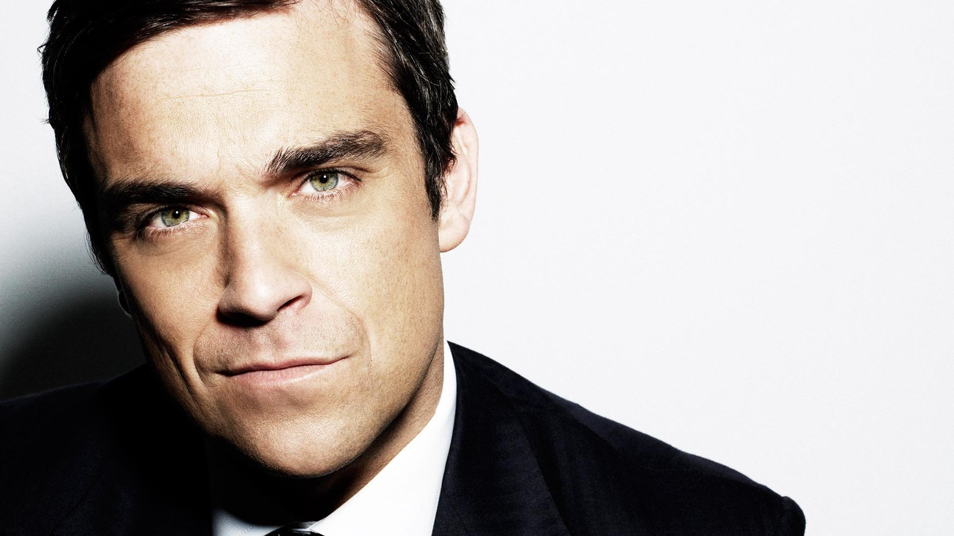 Download wallpaper 1920x1080 robbie williams, suit, face, eyebrows ...