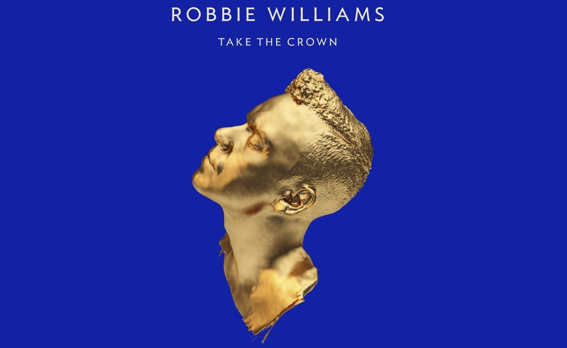 robbie williams take the crown blue gold HD wallpaper