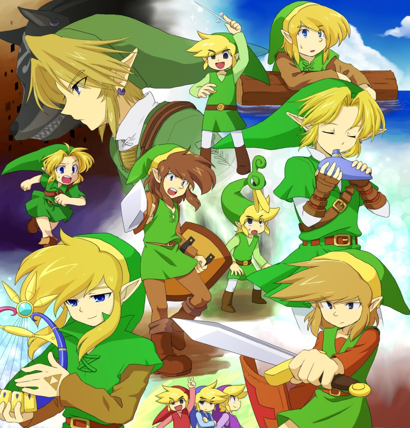 ezlo, link, toon link, and young link (the legend of zelda: twilight ...