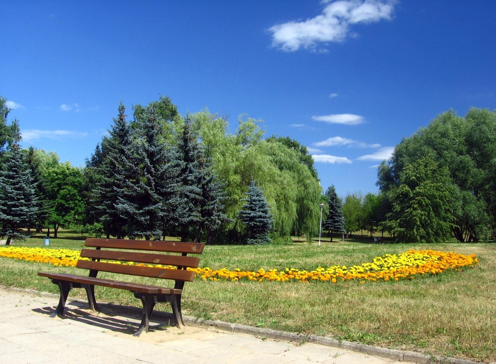 Misc: Romania Bucharest Park Cloud Bank Blue Sky Summer Tree Flower