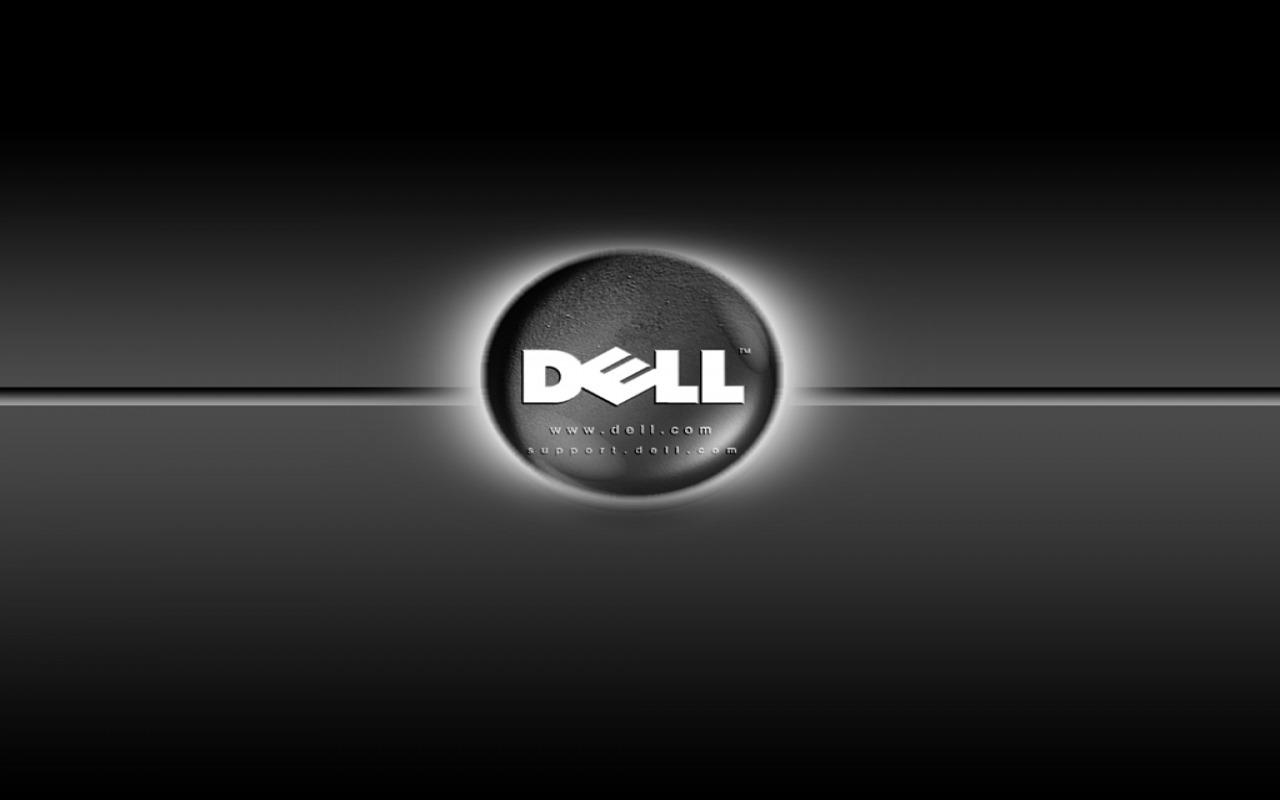 Black Dell Logo | Desktop Wallpaper | Computer Wallpapers