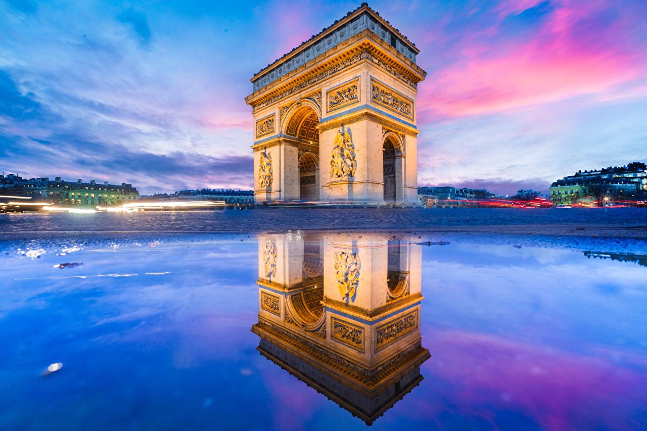 Wallpapers Paris France arc de triomphe architecture Cities