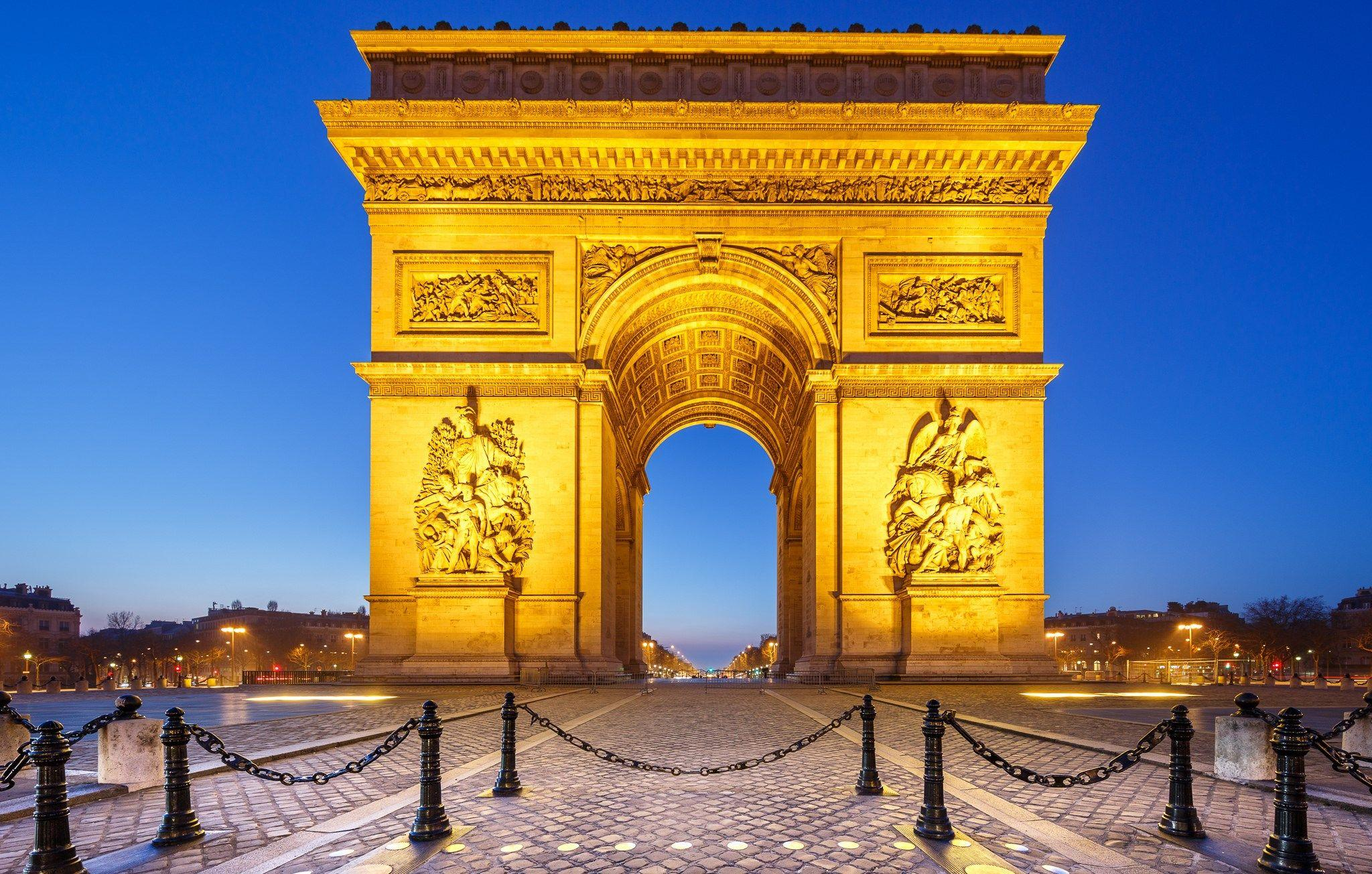 wallpapers desktop arc de triomphe