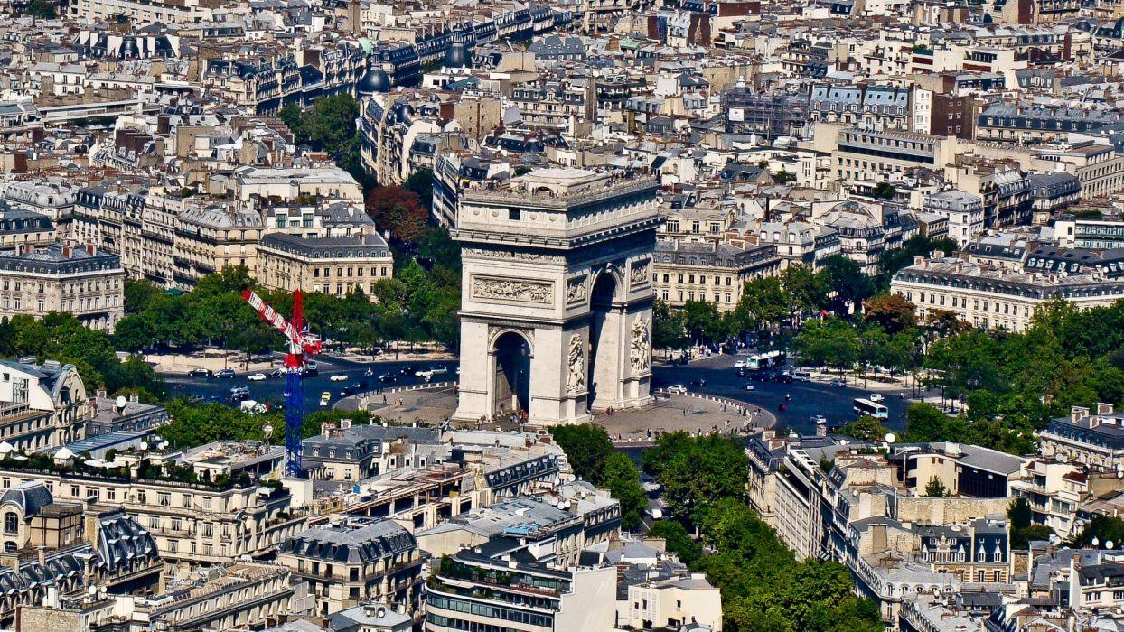 Paris cityscapes Arc De Triomphe cities wallpapers