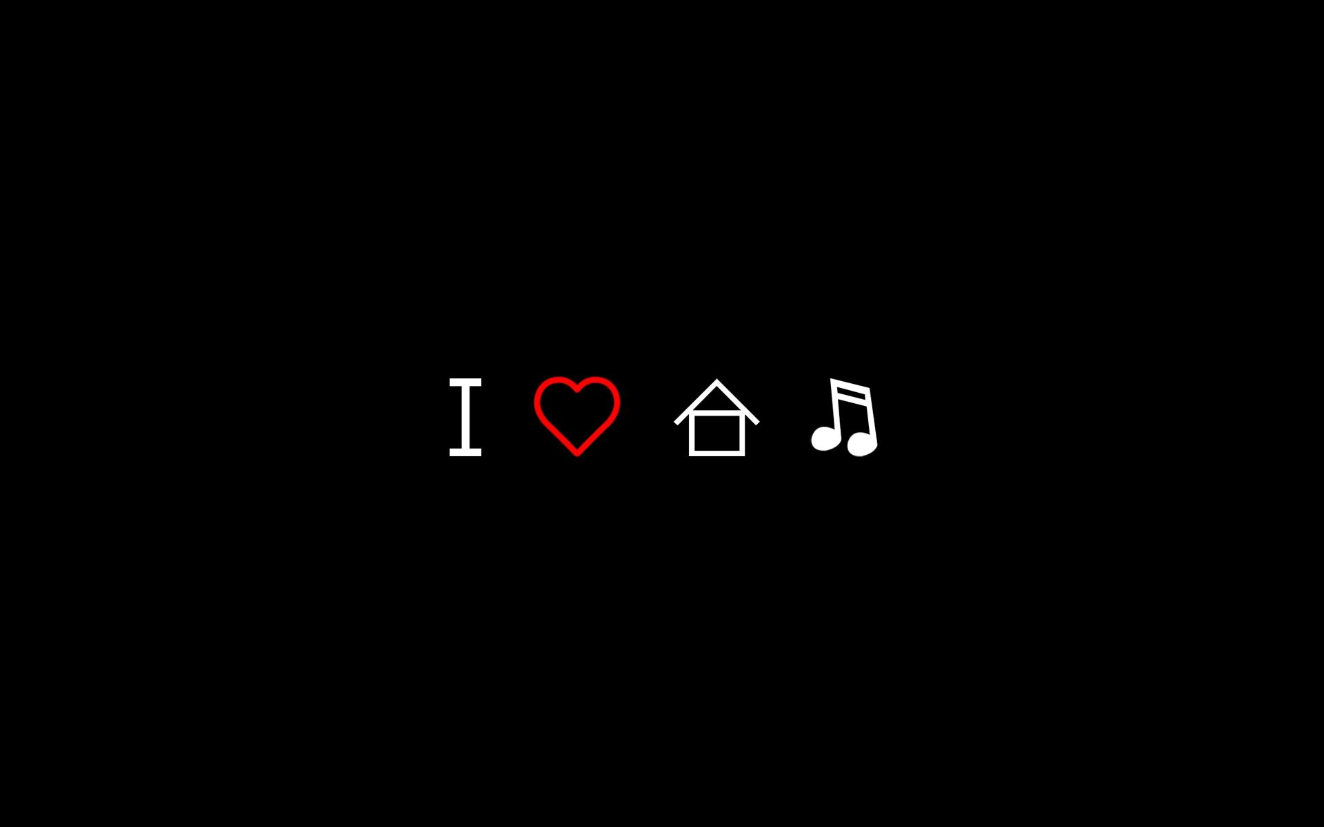 Download the I Love House Music Wallpaper, I Love House Music iPhone