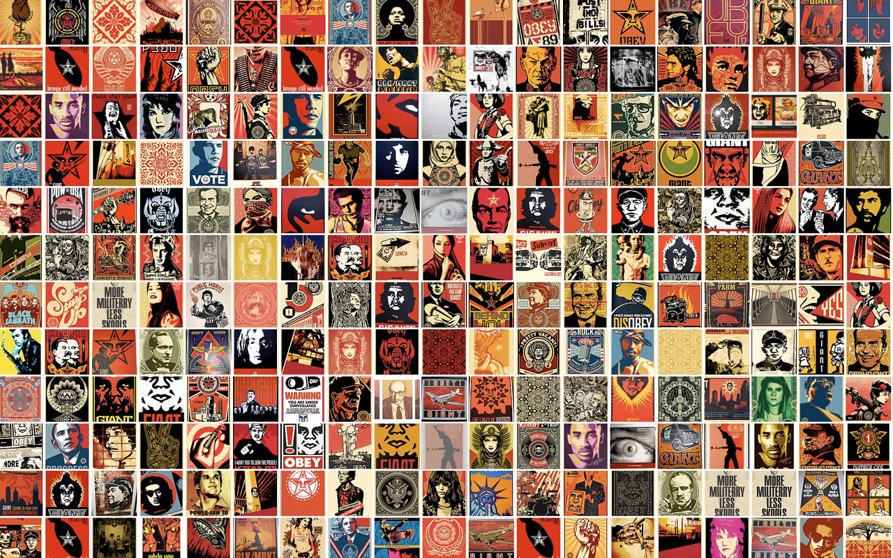 Obey Giant Collage Wallpapers