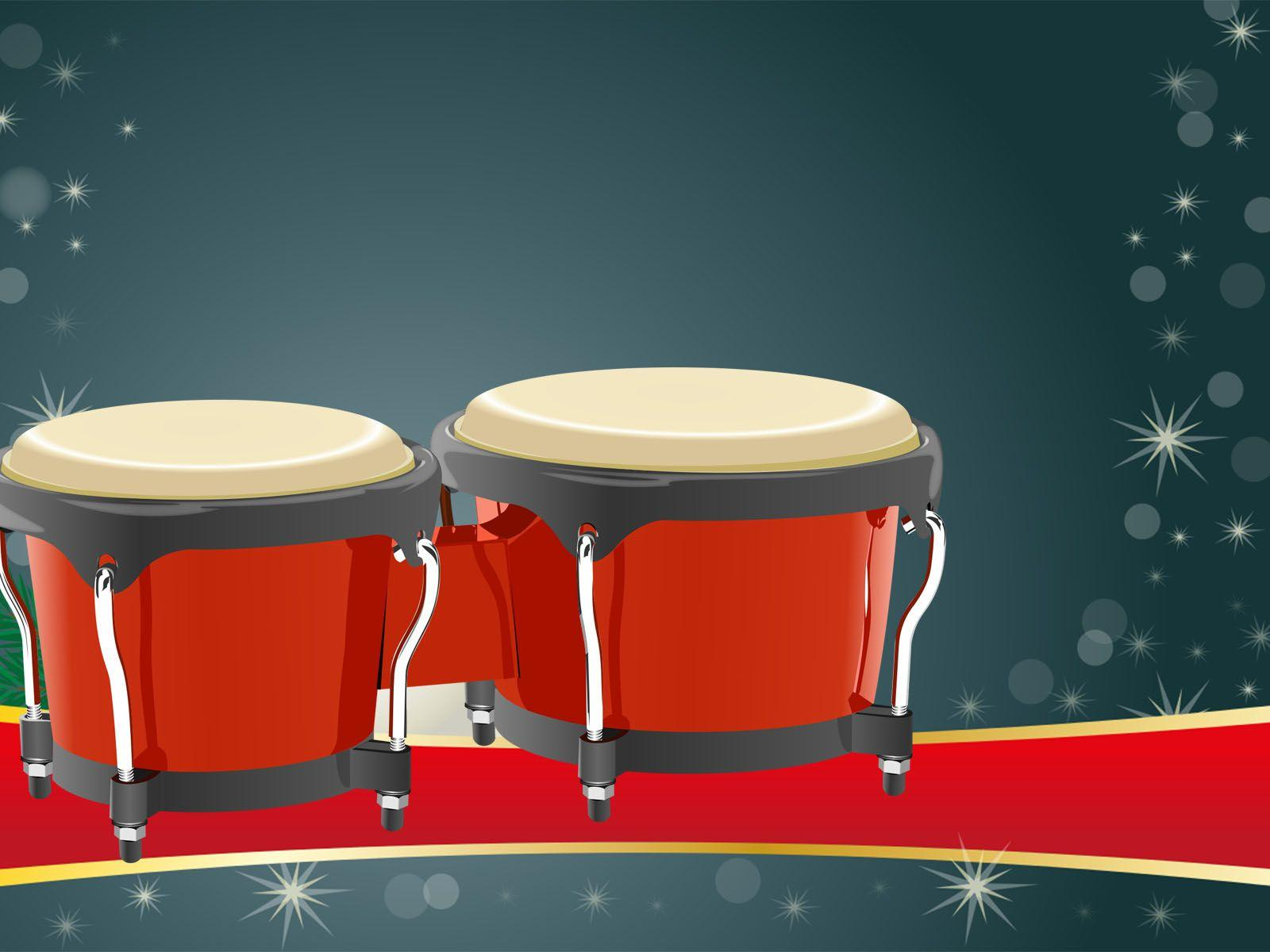 Bongos Instrument Powerpoint Backgrounds is a free border backgrounds