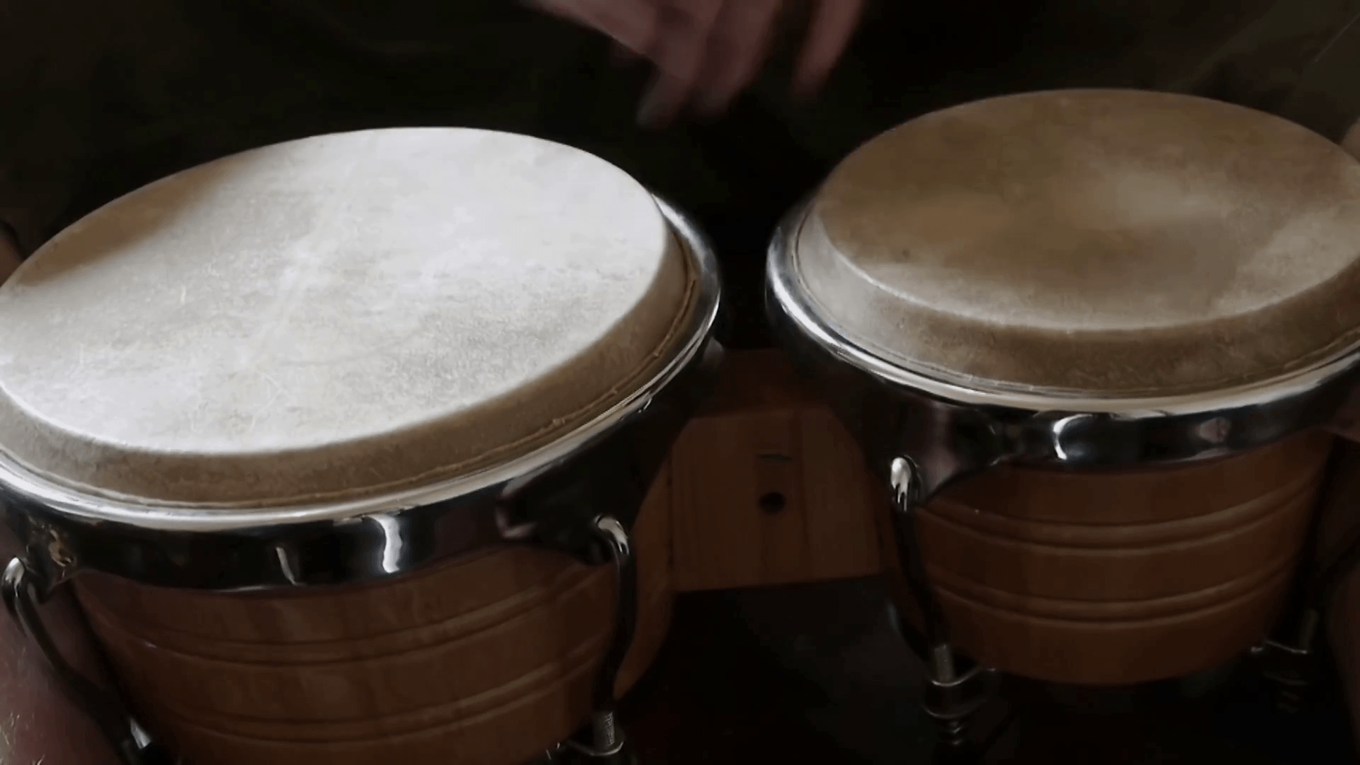 close up playing bongo drums Stock Video Footage