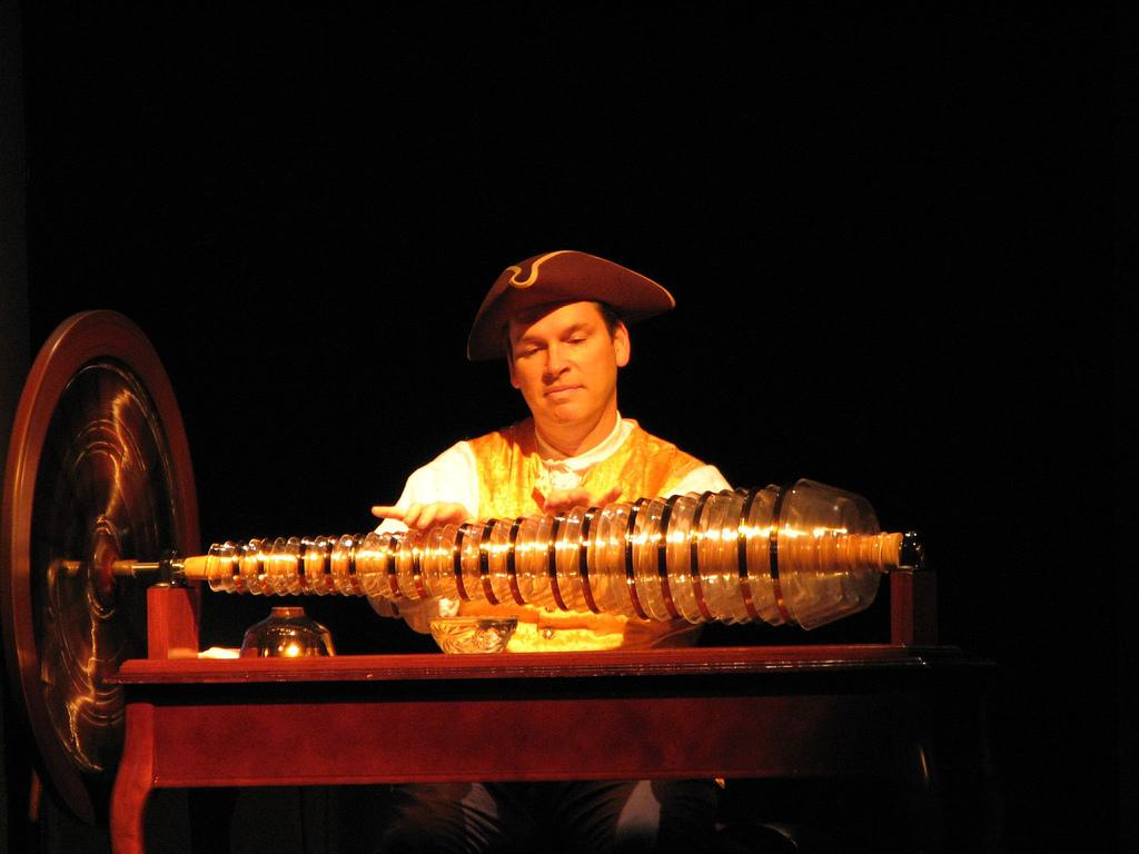 Glass armonica, played by Dean Shostak
