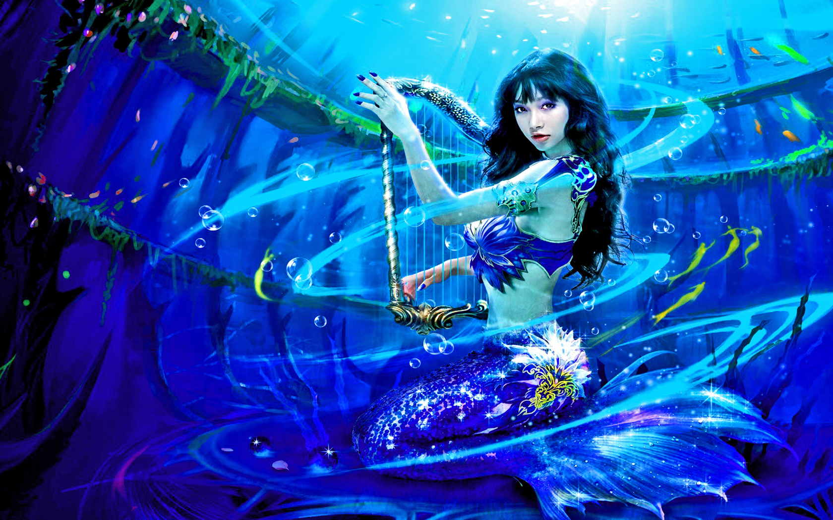 The Mermaid's Harp Wallpapers and Backgrounds Image