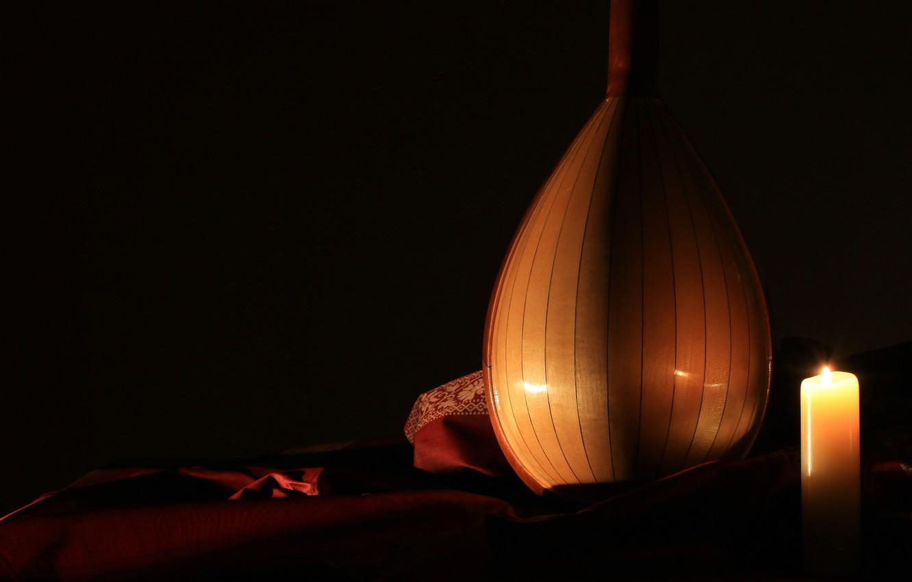 Wallpapers background, candle, musical instrument, mandolin image