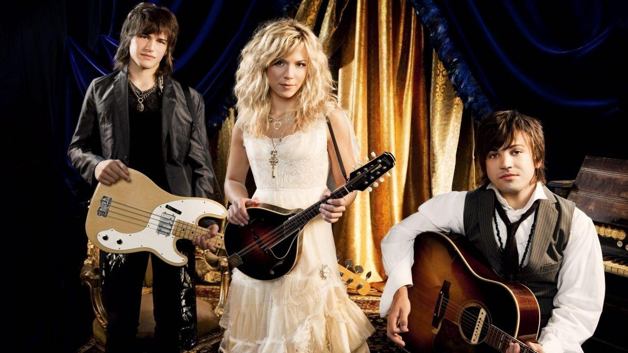 Blondes women perry curtains band white dress mandolin The Band