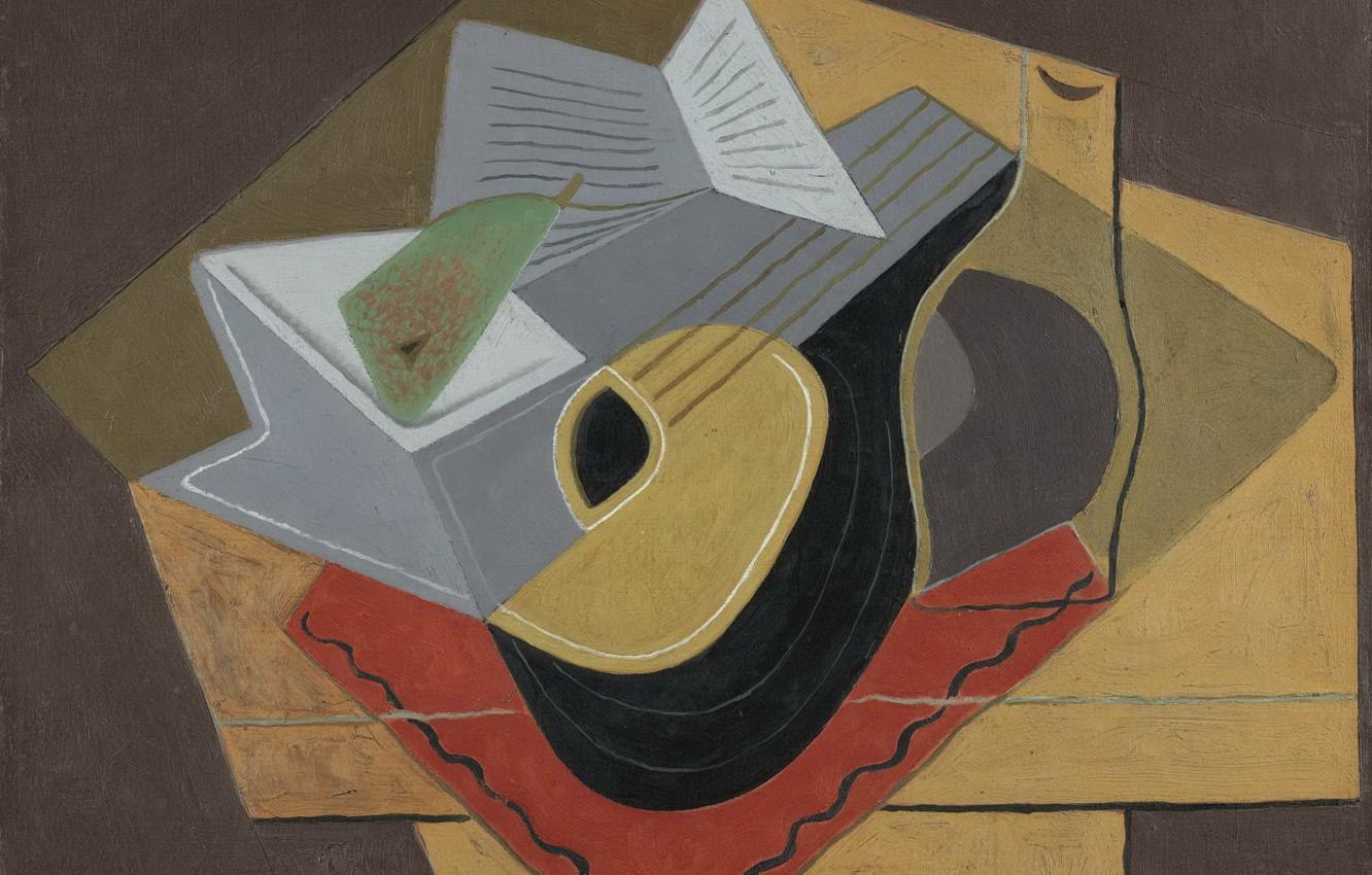 Wallpapers cubism, 1926, Juan Gris, Black mandolin image for desktop