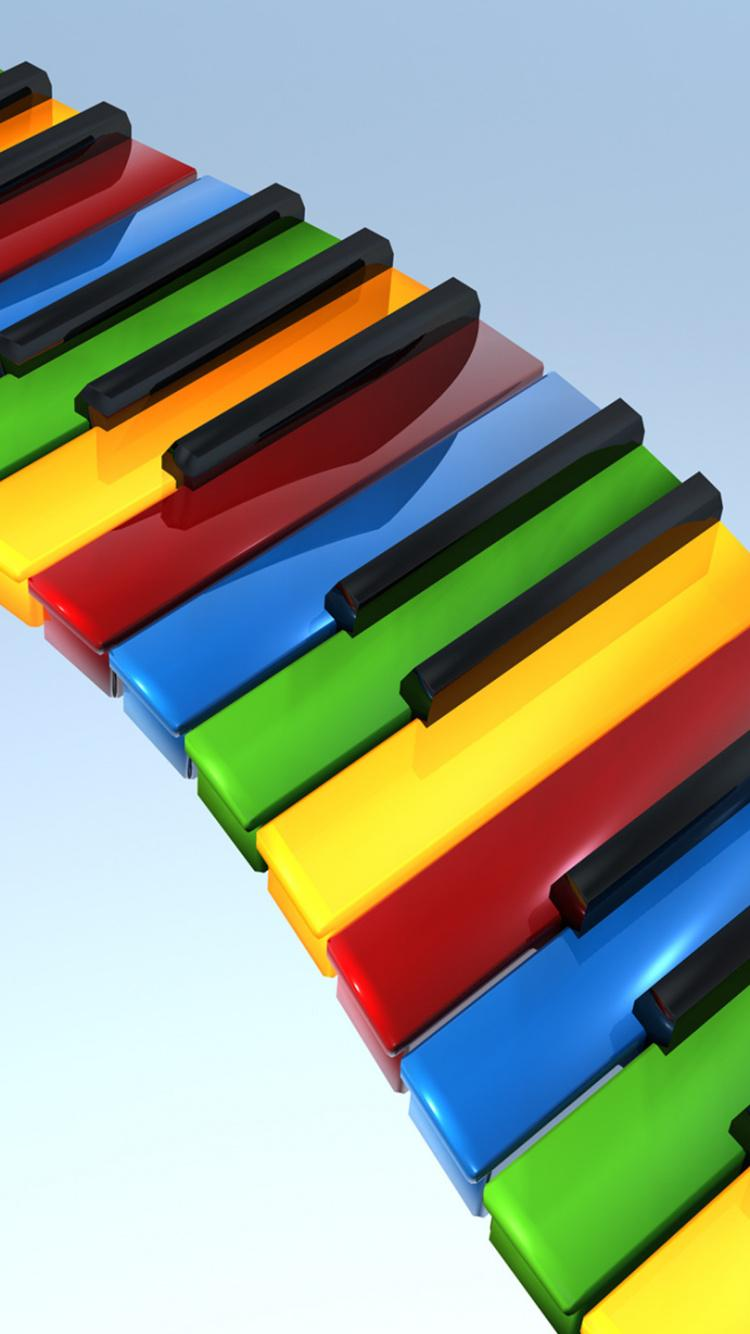 Download 750x1334 Wallpaper Musical Keyboard, Musical Instruments ...