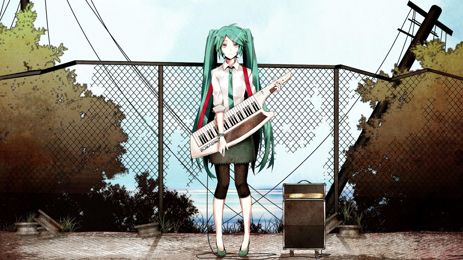 Anime Girl With Instrument HD Wallpaper | 1920x1080 | ID:30595 ...