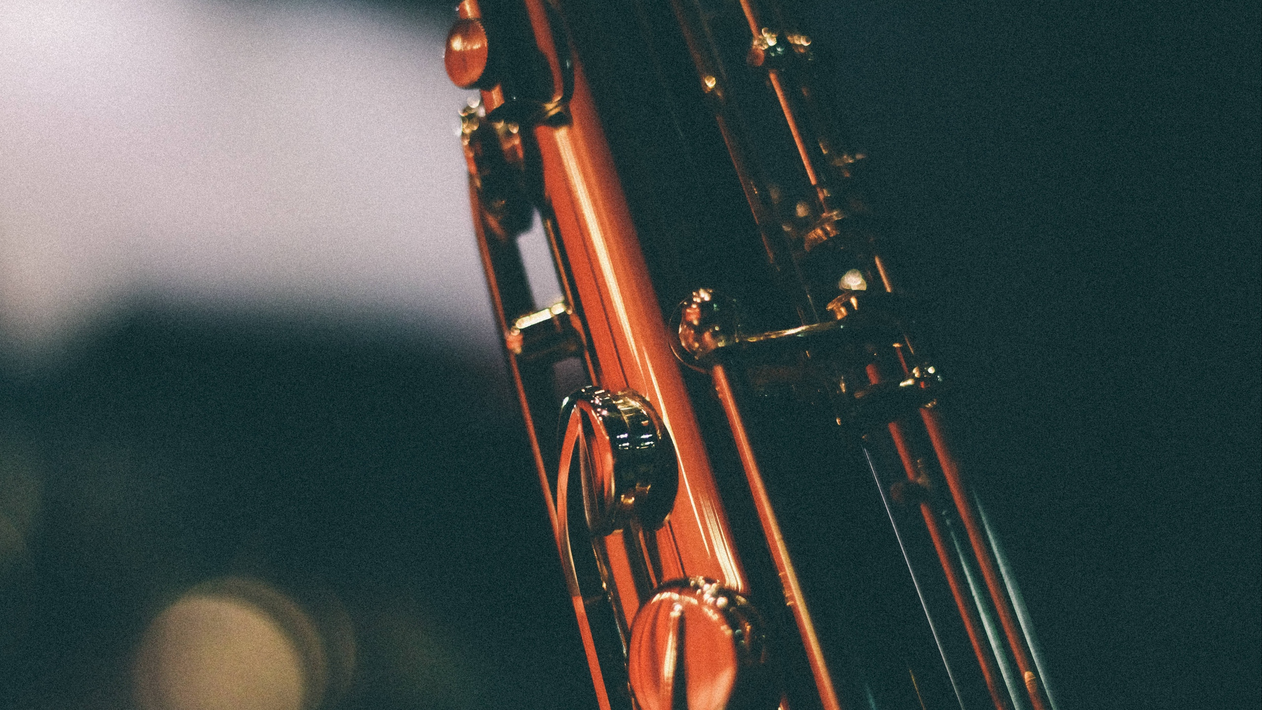 Download wallpapers 2560x1440 saxophone, musical instrument, keys