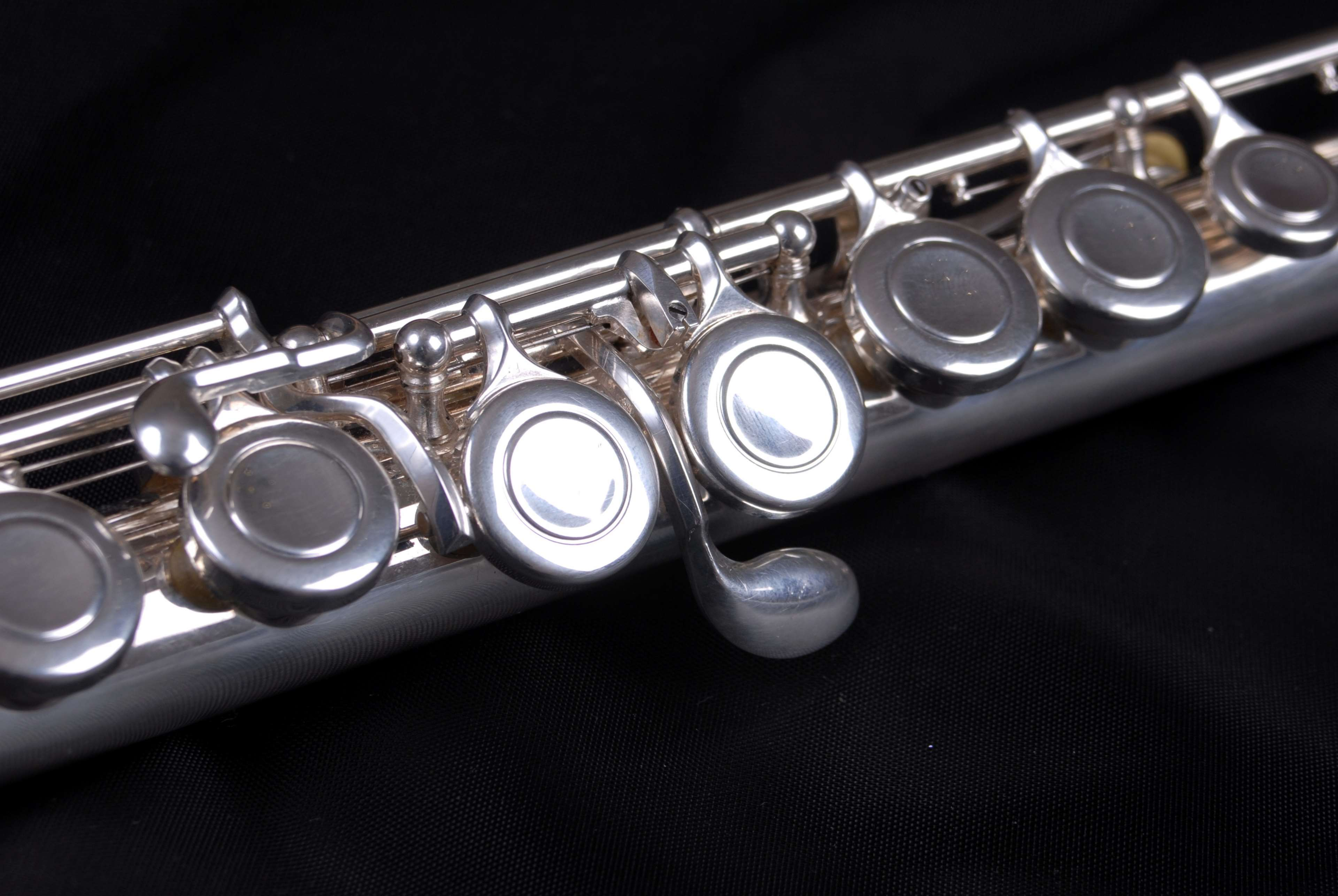 flute, instrument, music, notes, orchestra, silver, sound, wind 4k ...