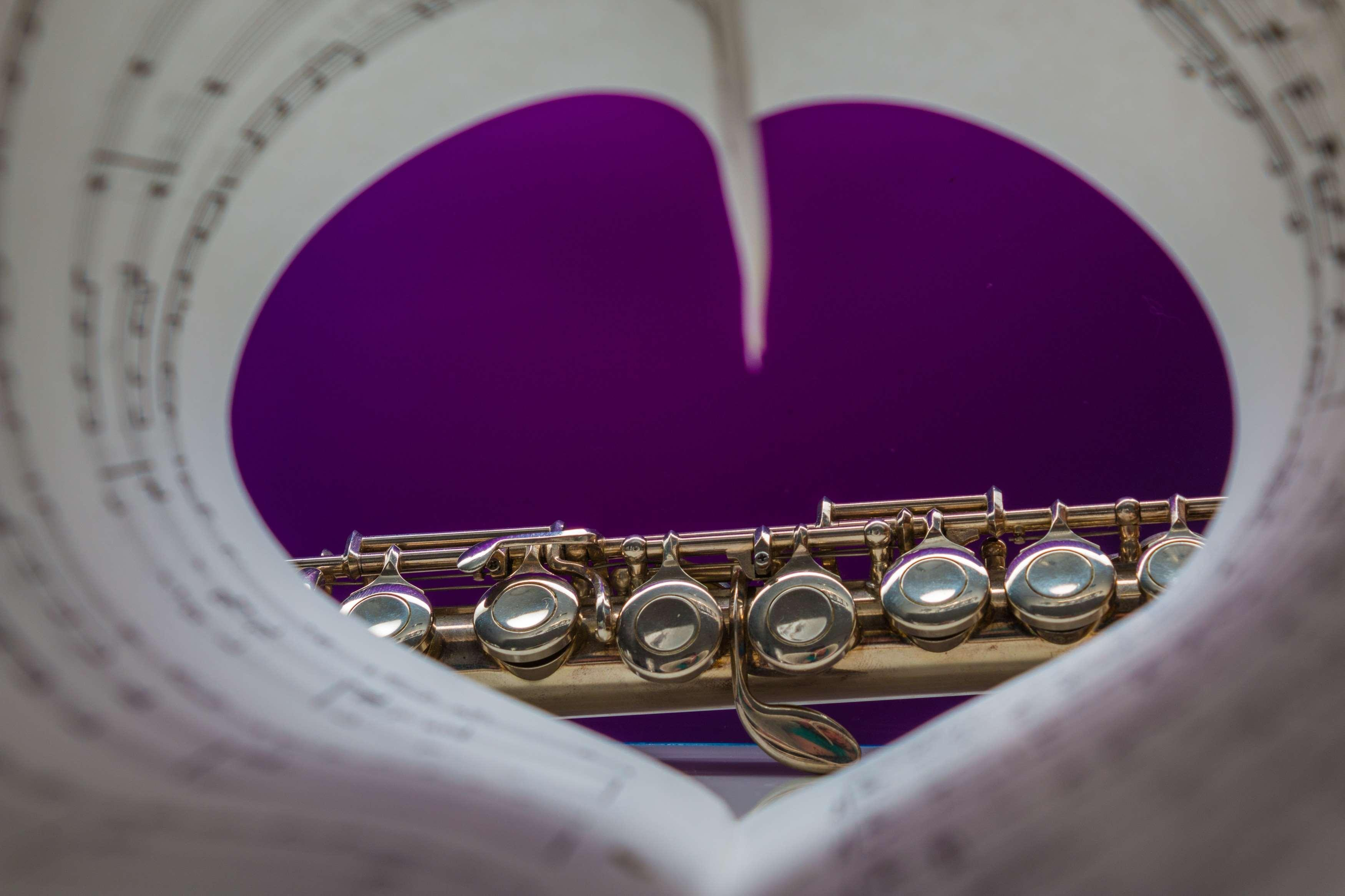 classic, flute, heart, instrument, love of music, music, musical ...