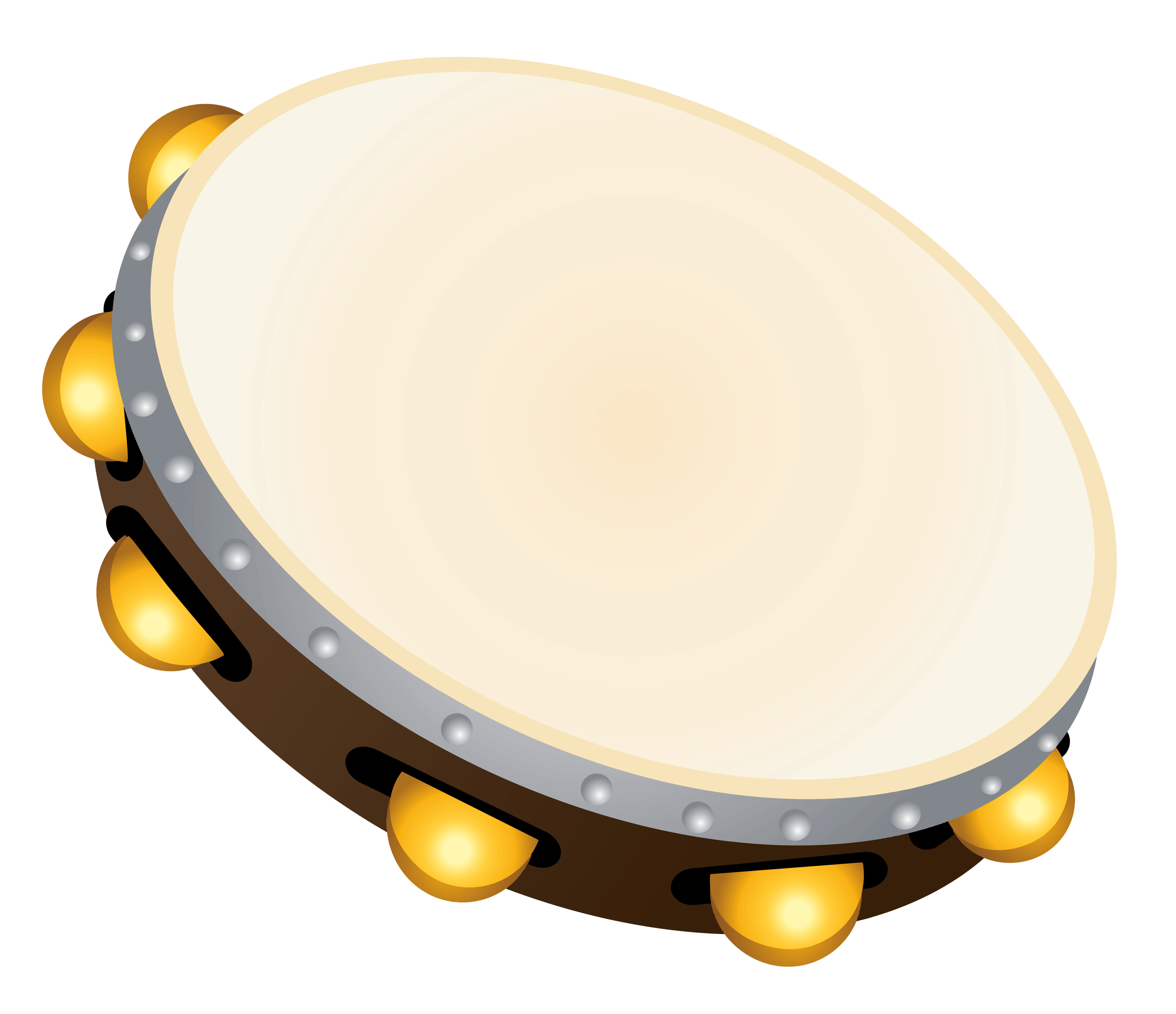 Transparent Tambourine PNG Clipart