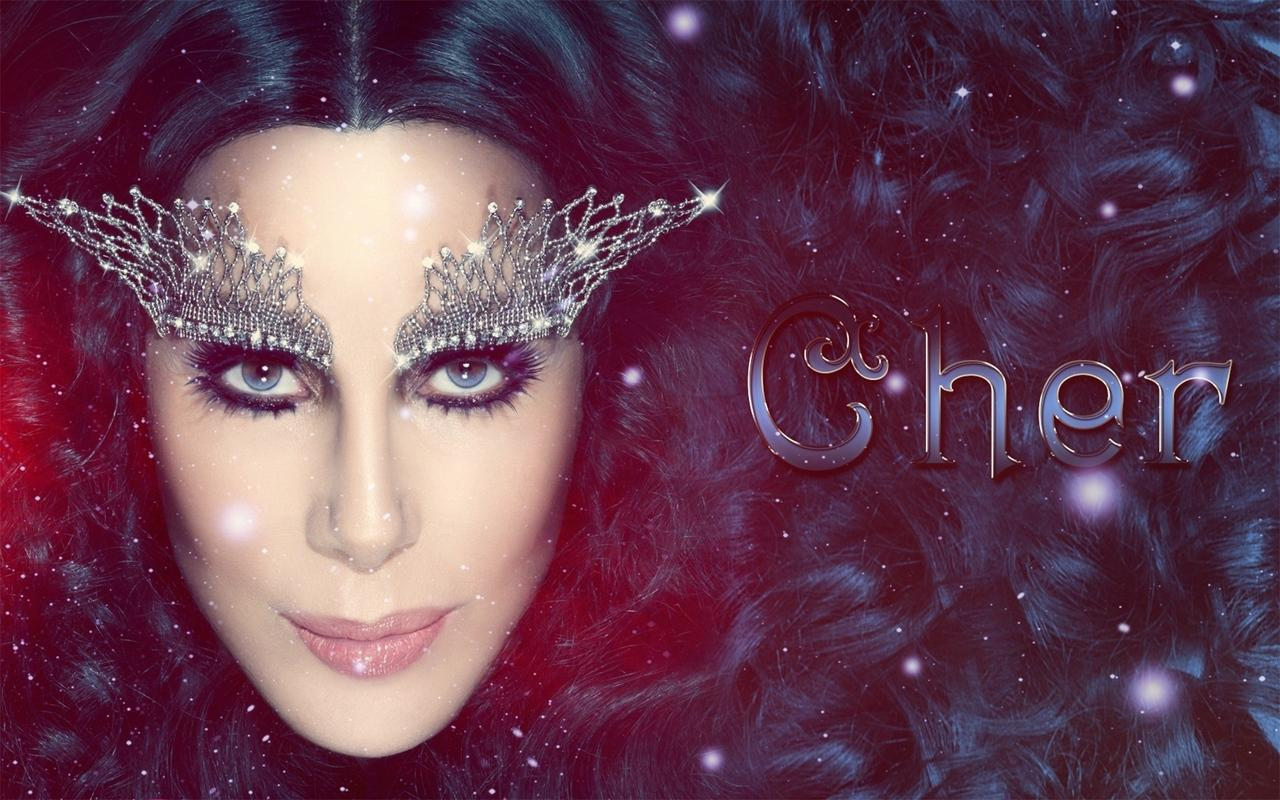 Download wallpapers 1280x800 cher, singer, makeup, celebrity