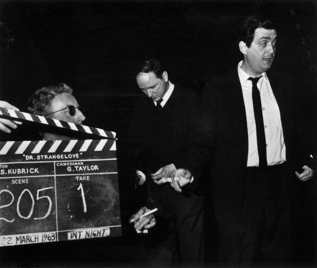 Peter Sellers and director Stanley Kubrick, right with a
