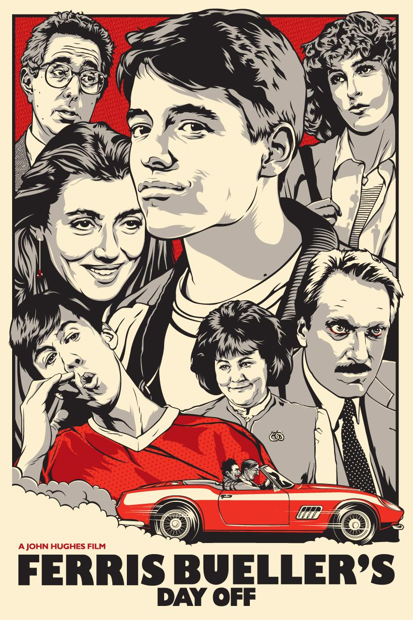 Redesigned Movie Poster for FERRIS BUELLER'S DAY OFF