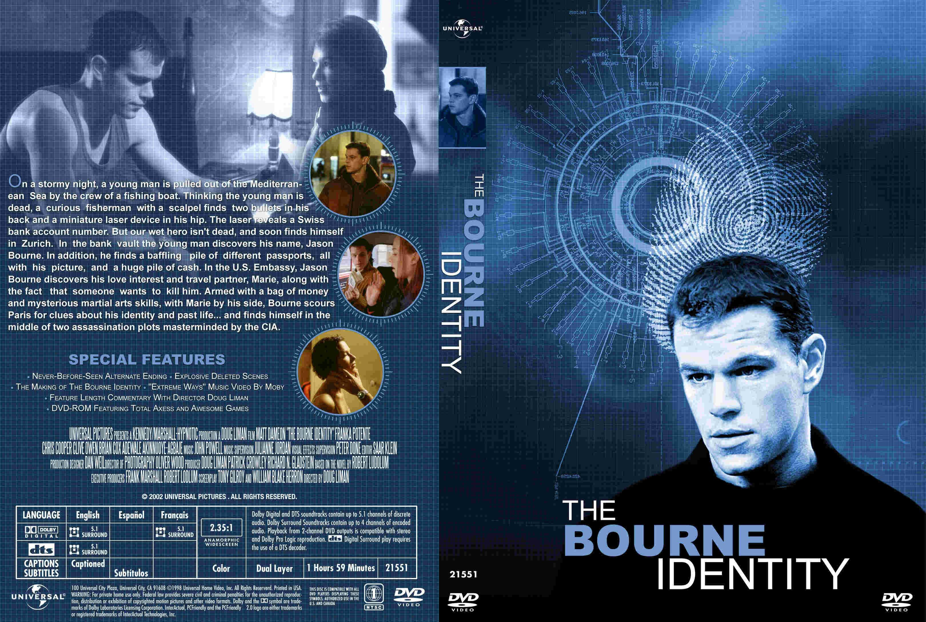 BOURNE IDENTITY action mystery thriller spy poster wallpapers