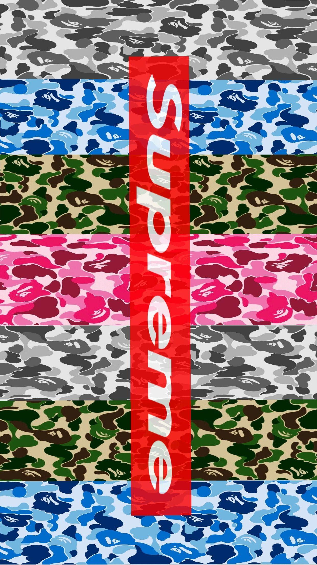 Supreme And Bape Wallpapers - Wallpaper Cave