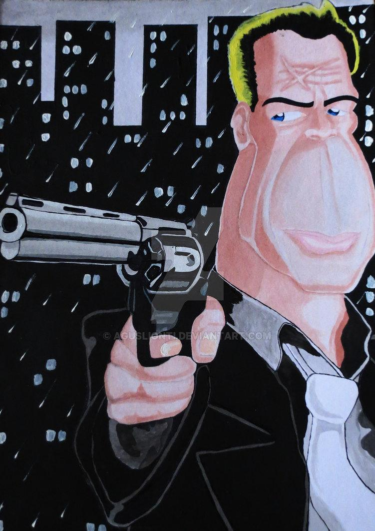 Caricatura John Hartigan (Bruce Willis) by aguslionti on DeviantArt