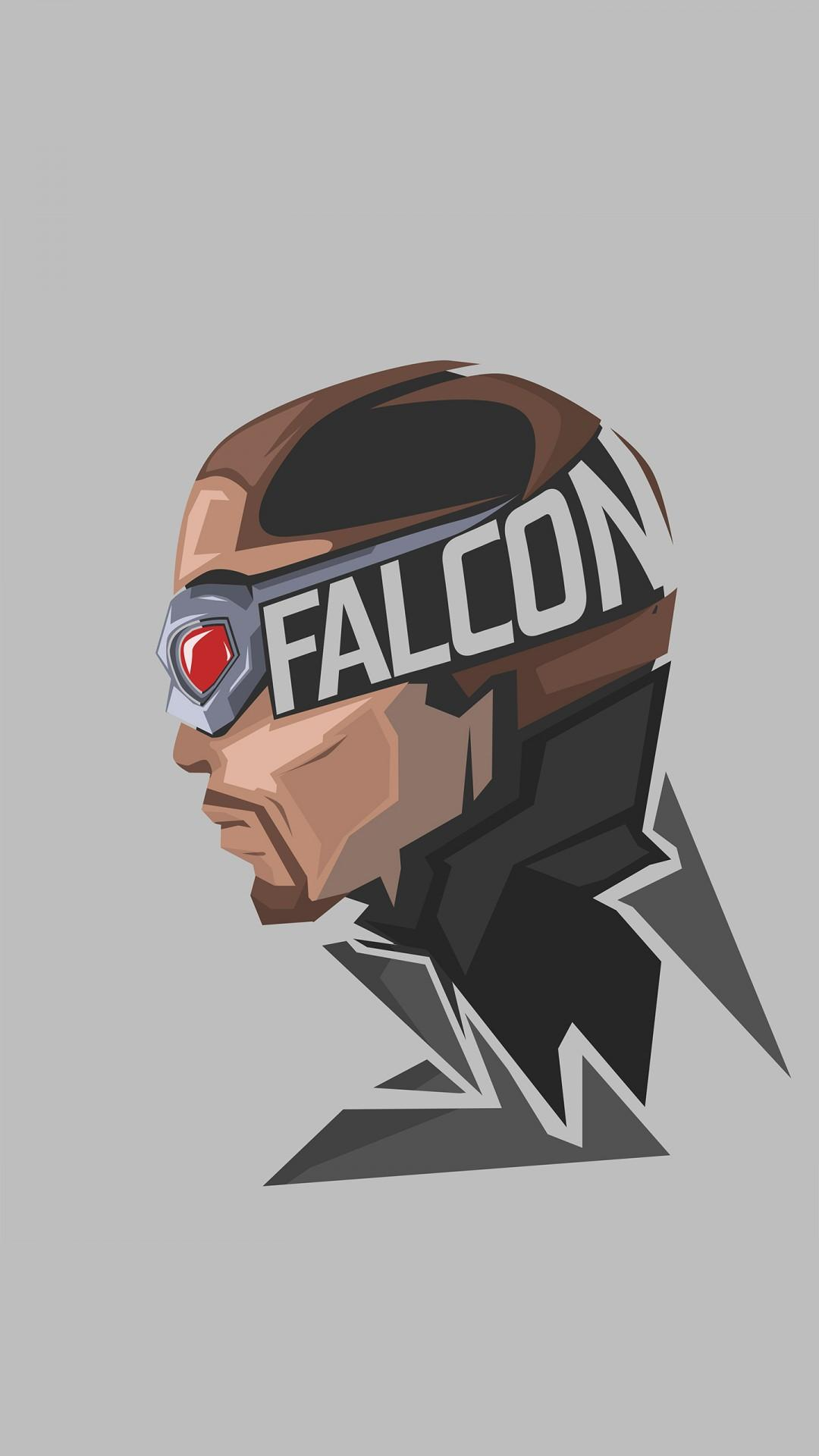 Falcon Marvel Superhero Minimal 4K 8K Wallpapers