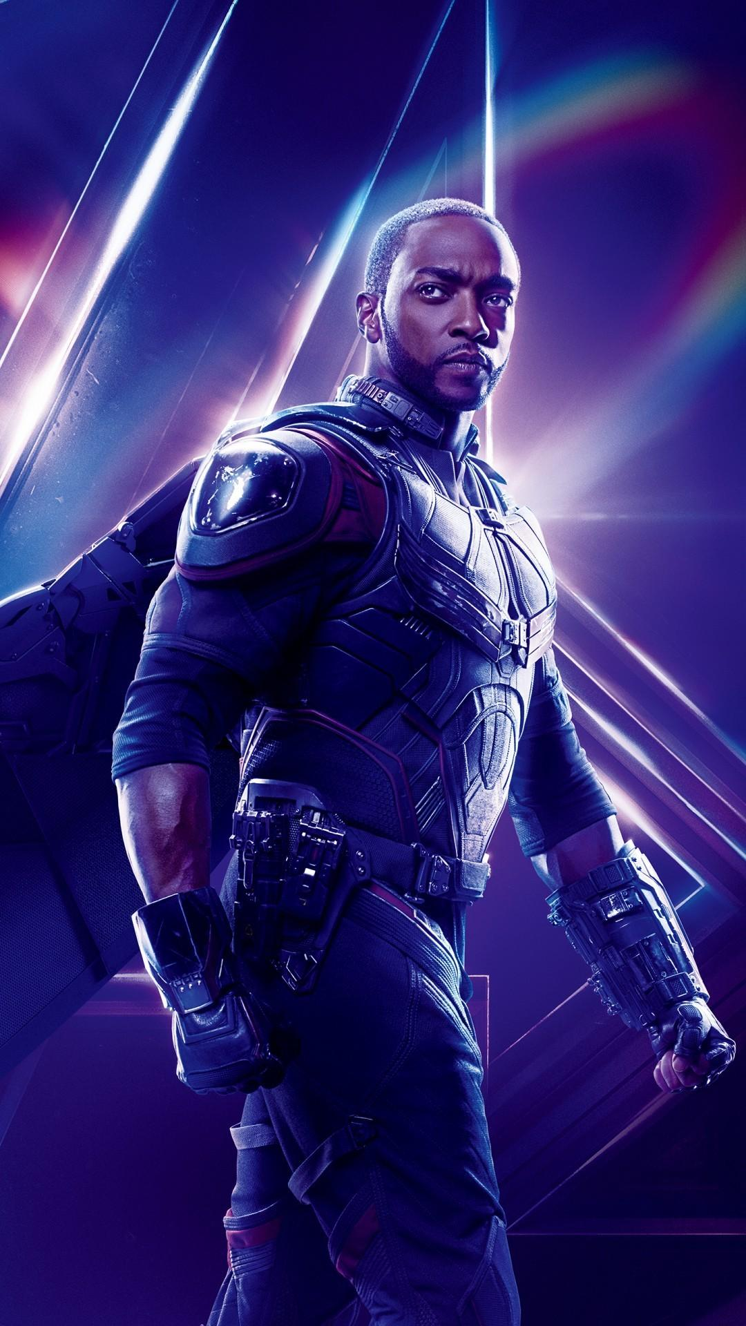Free Anthony Mackie as Falcon in Avengers Infinity War phone