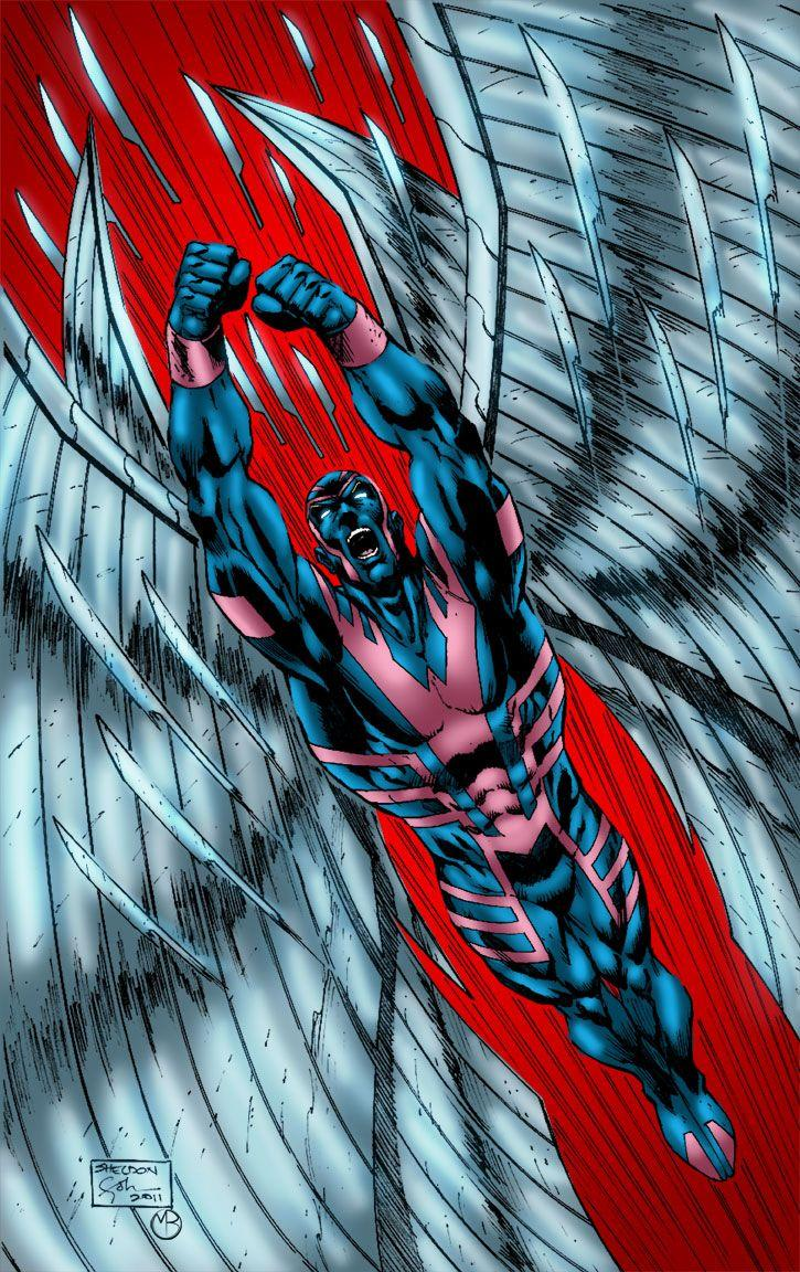 Archangel Feathers Flying by MarcBourcier | Marvel Comics | Marvel ...