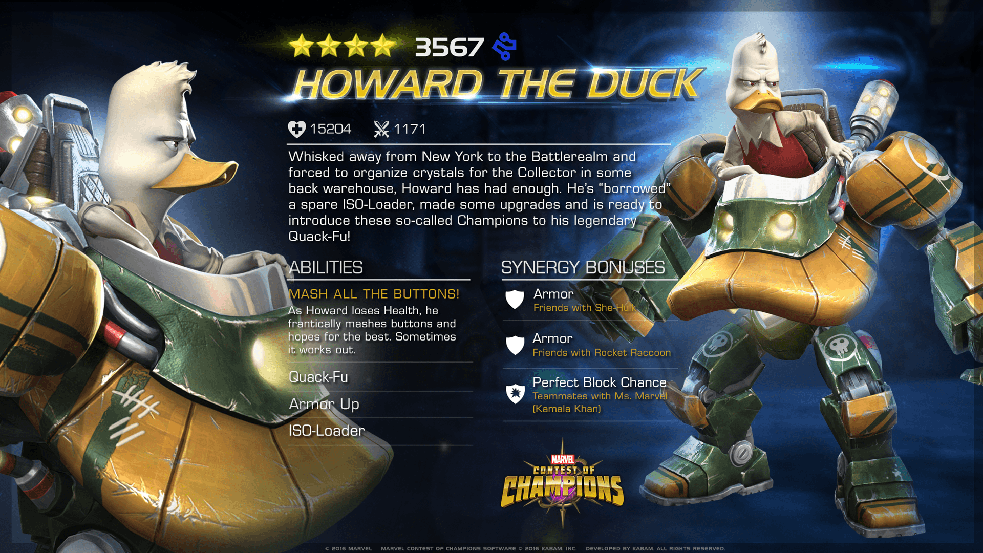 ENTERING MARVEL CONTEST OF CHAMPIONS: HOWARD THE DUCK
