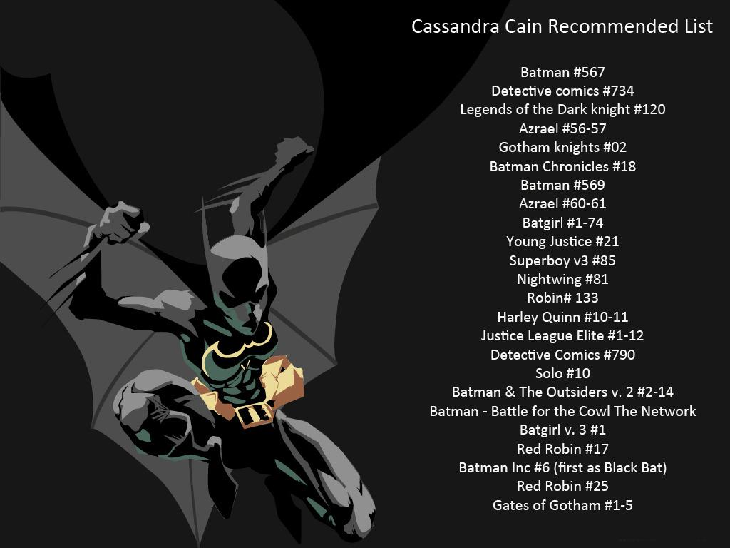 Cassandra Cain (Batgirl, Black Bat) Appreciation - Page 3