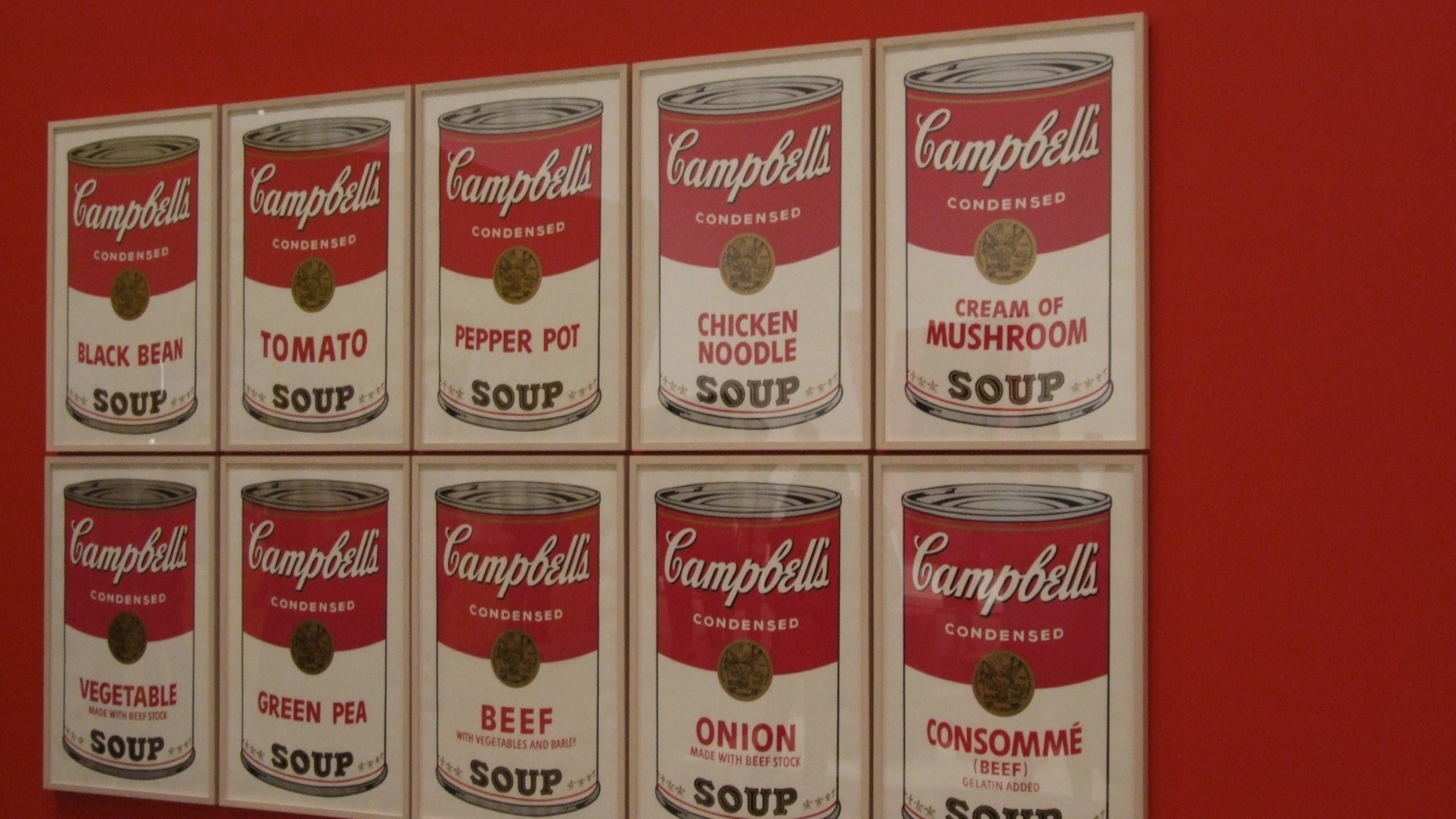 2560x1440 American Artist, Andy Warhol Campbells Soup Poster, Arts