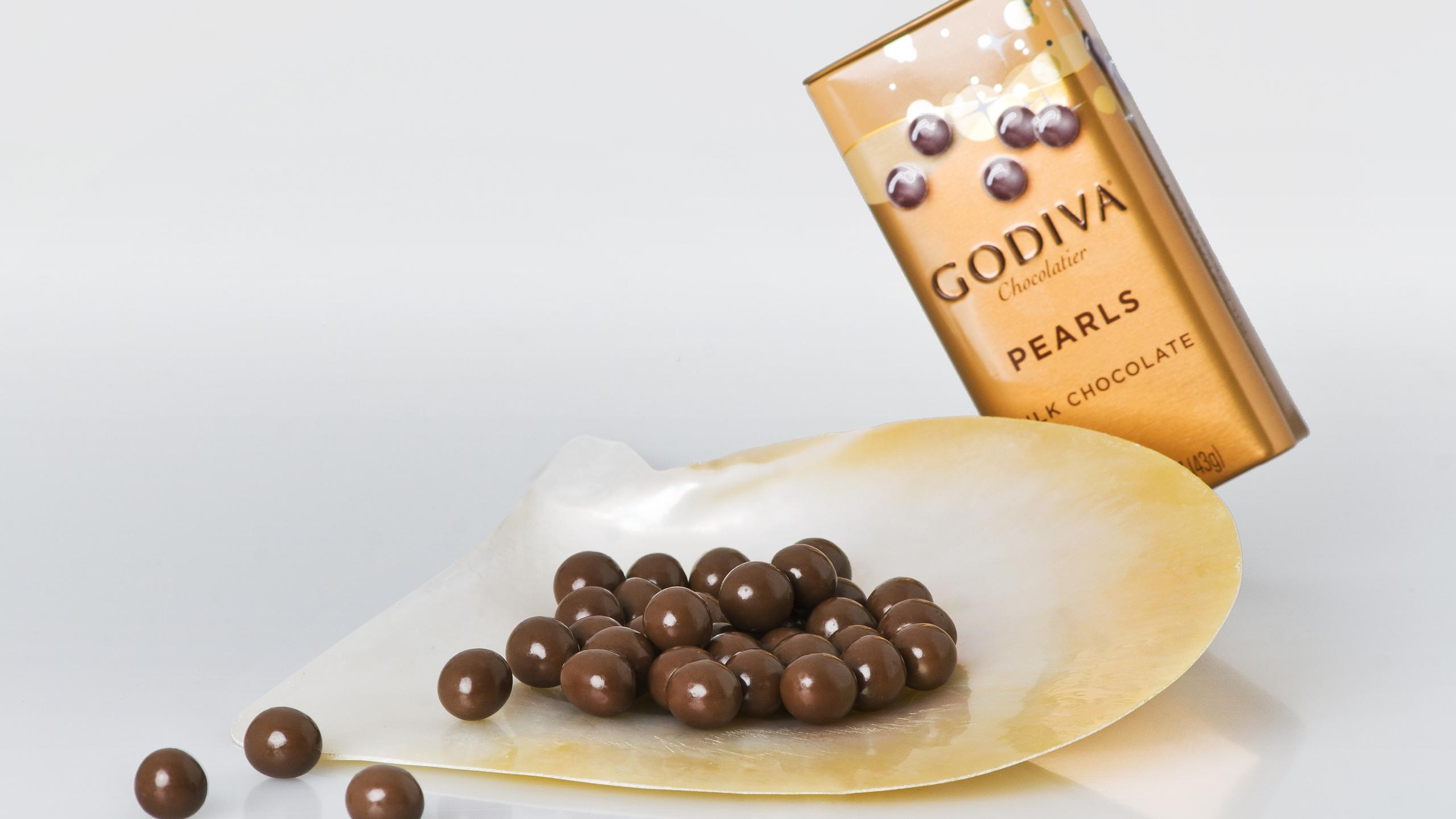 2560x1440 Godiva, Godiva Logo, Godiva Chocolate Dragees Wallpapers