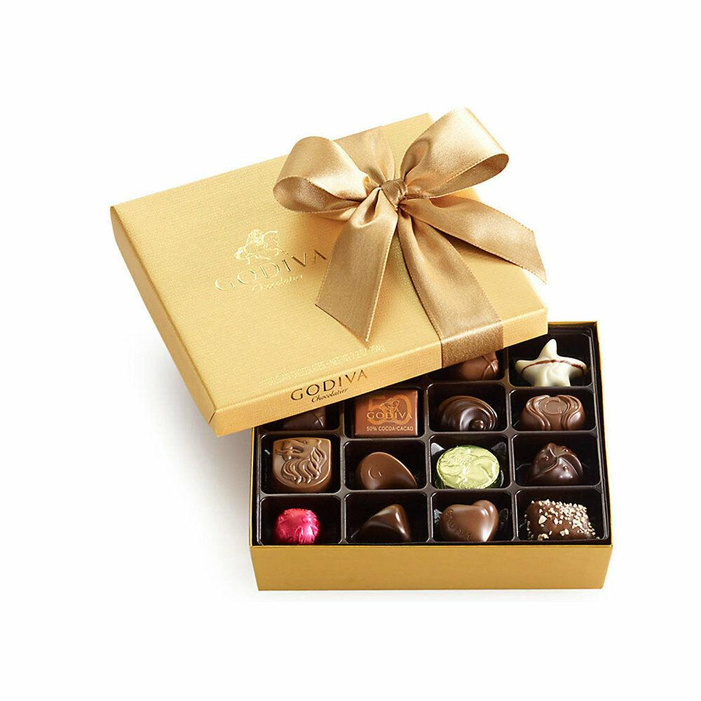 Godiva Chocolatier Classic Gold Ballotin Chocolate, Perfect Hostess